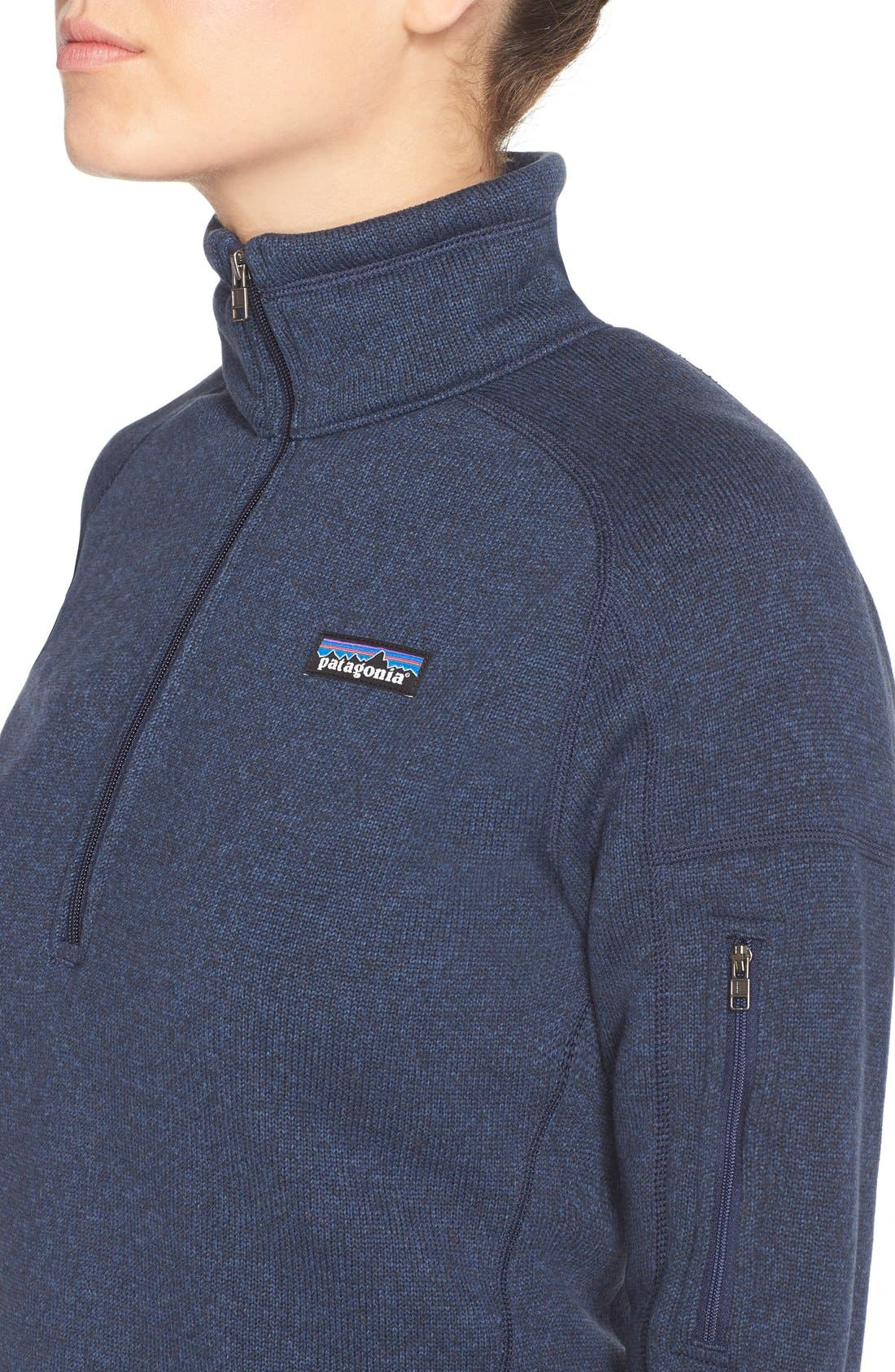 PATAGONIA, Better Sweater Zip Pullover, Alternate thumbnail 6, color, CLASSIC NAVY