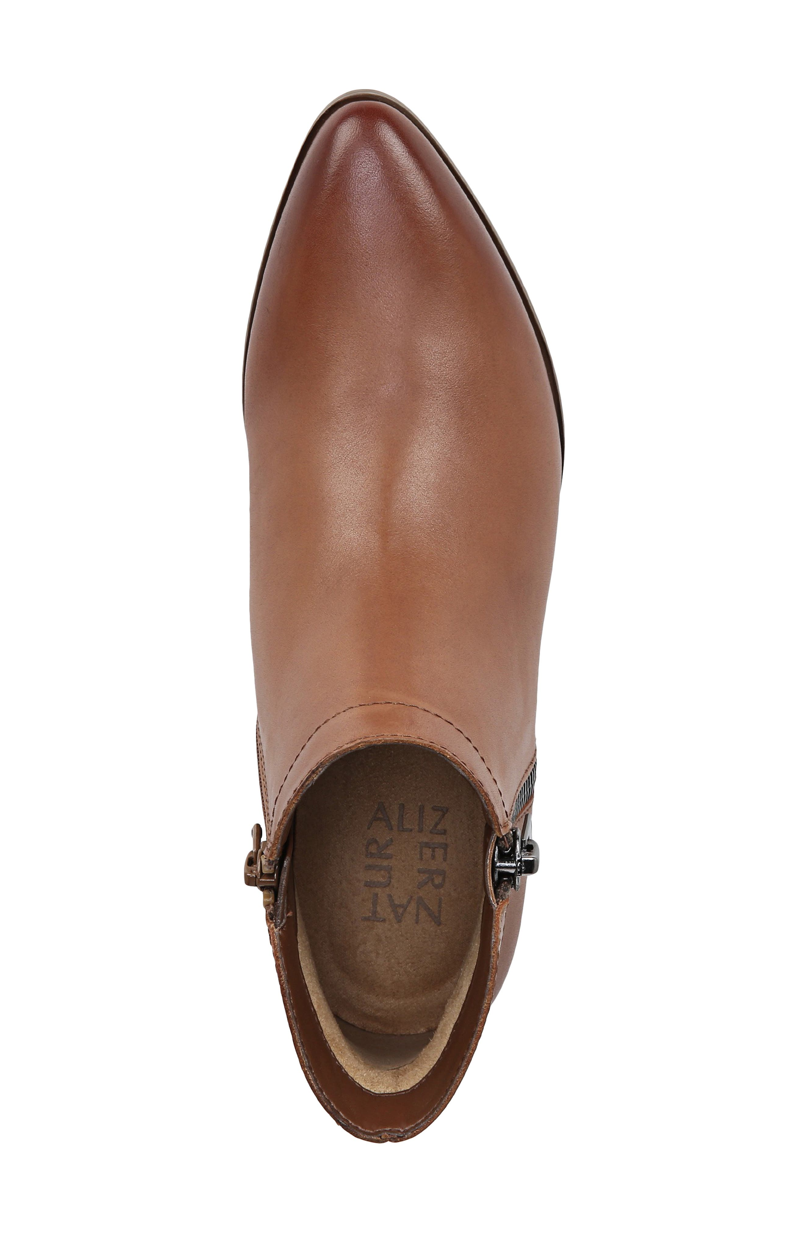 NATURALIZER, Blair Bootie, Alternate thumbnail 4, color, BANANA BREAD LEATHER