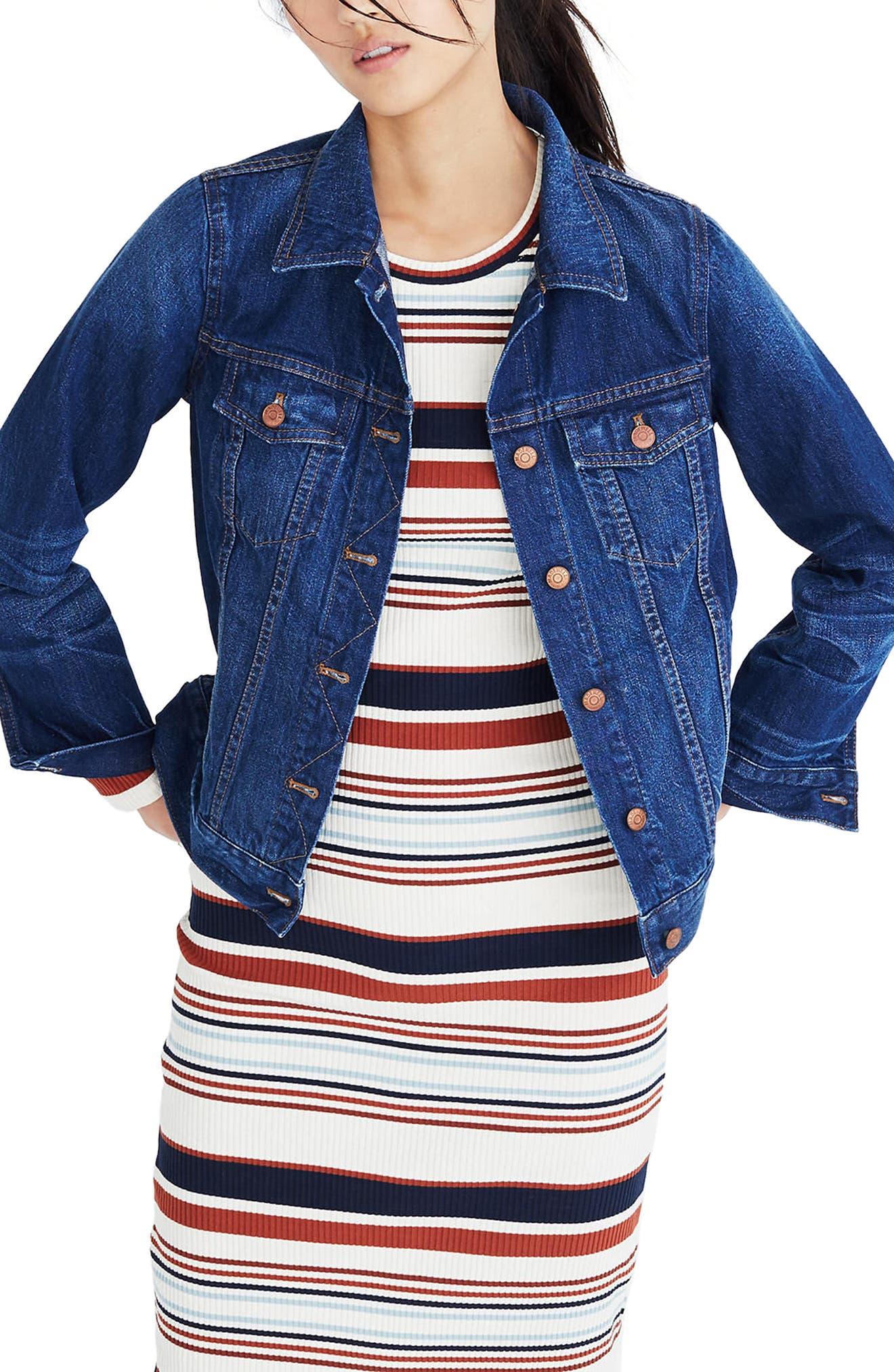 MADEWELL Denim Jacket, Main, color, BRIARWOOD WASH