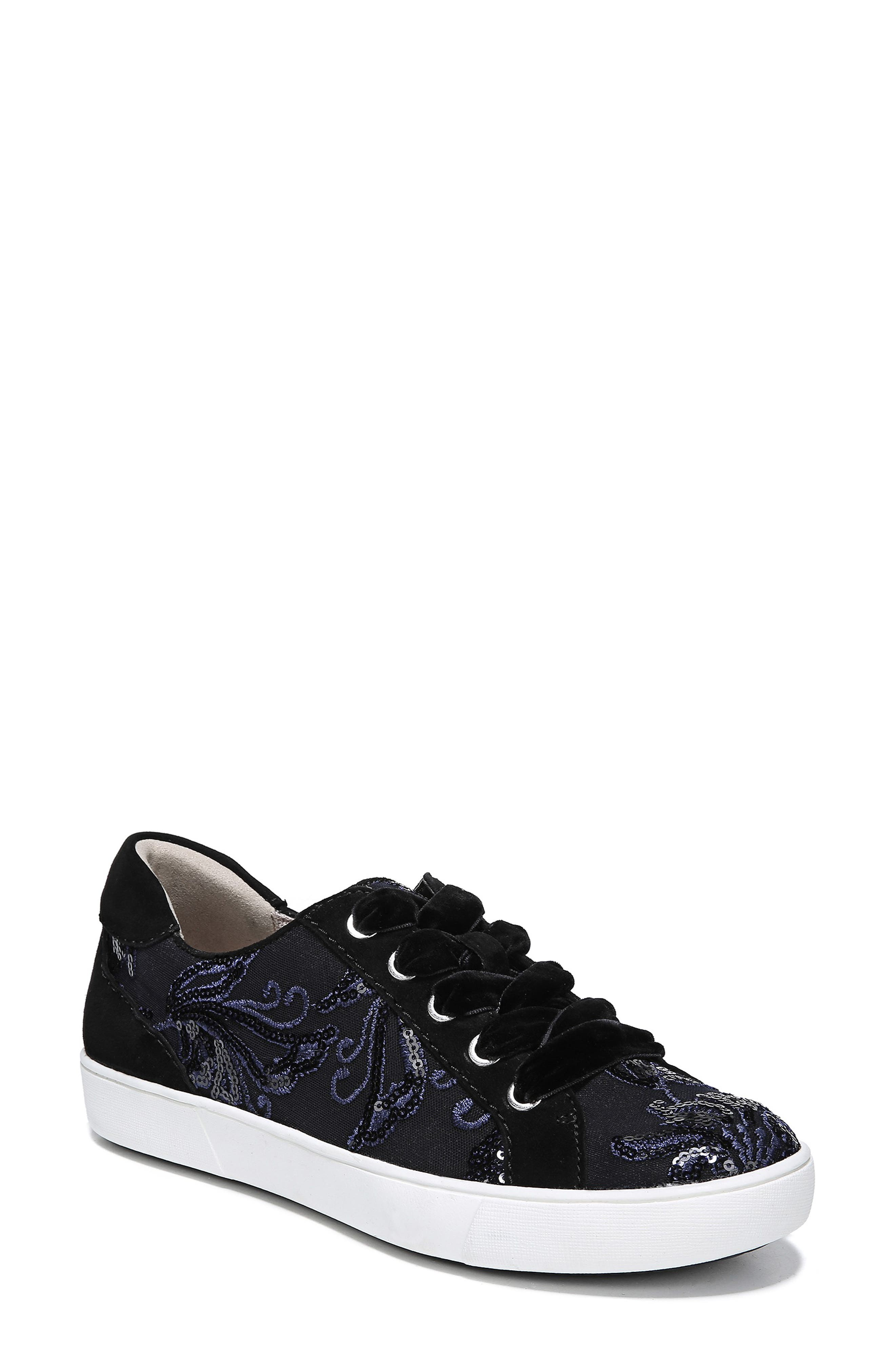 NATURALIZER, Morrison Sneaker, Main thumbnail 1, color, NAVY EMBROIDERED LACE