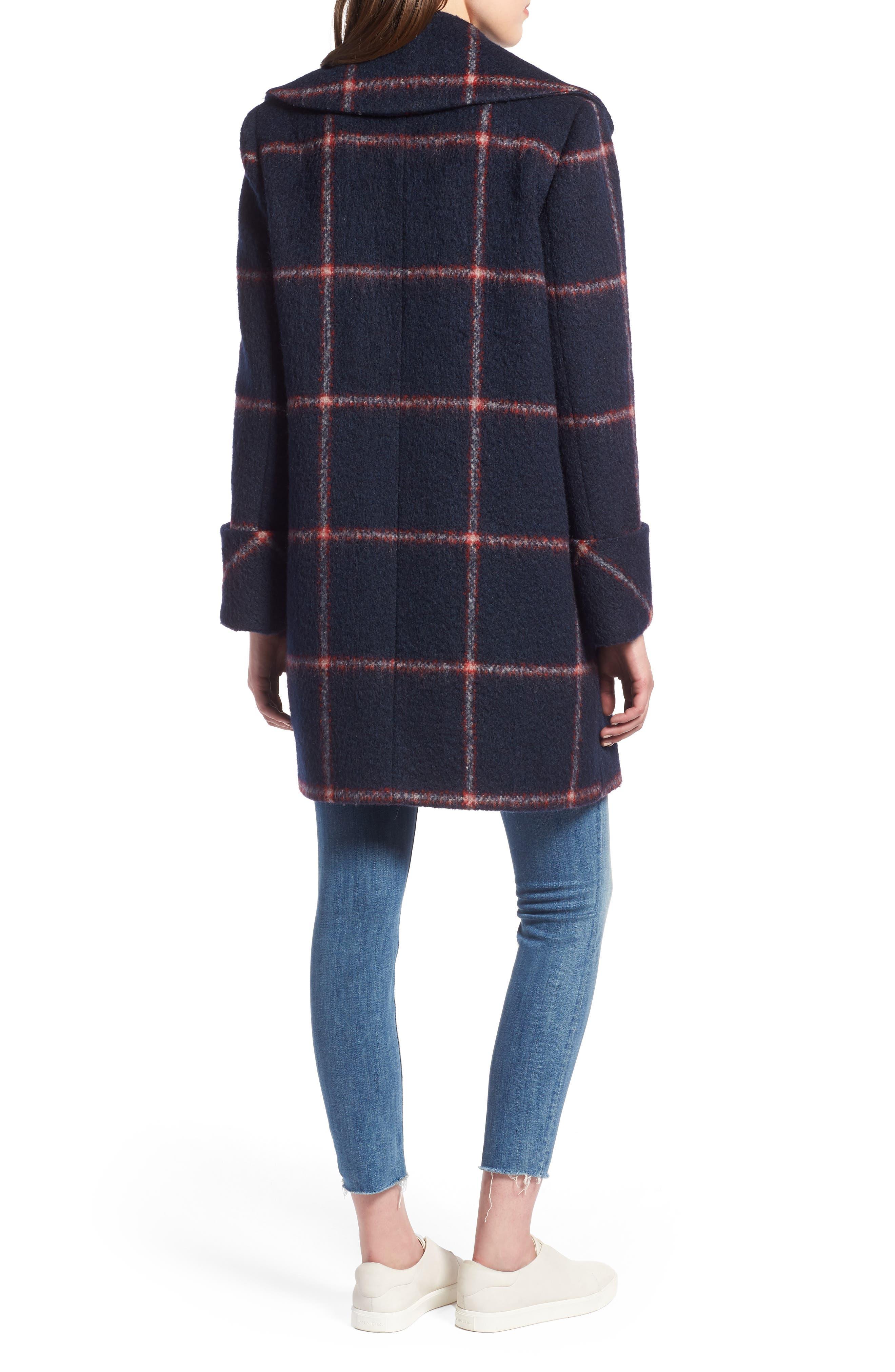 KENDALL + KYLIE, Oversize Collar Coat, Alternate thumbnail 2, color, 427
