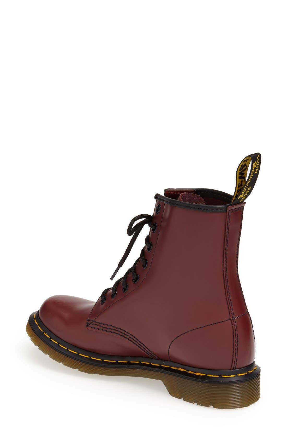 DR. MARTENS, '1460 W' Boot, Alternate thumbnail 2, color, CHERRY