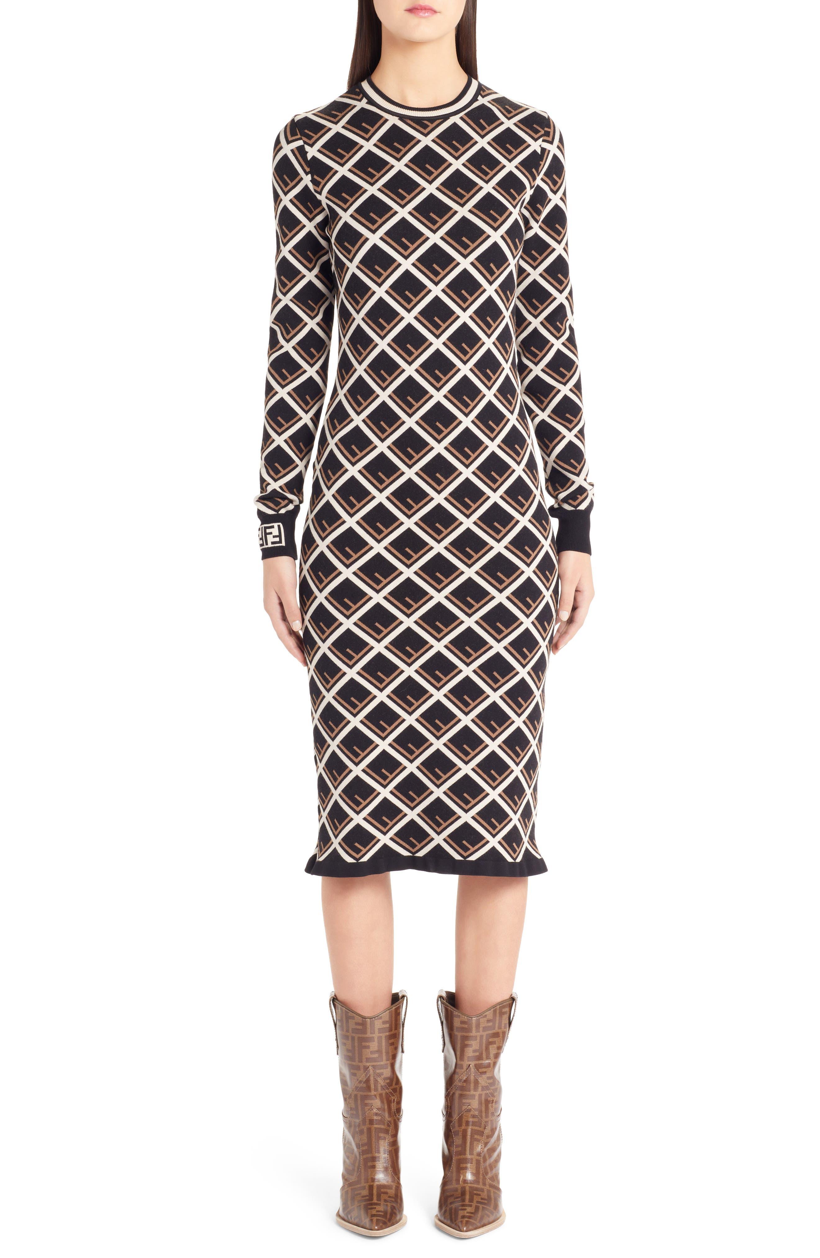 Fendi Logo Pattern Dress