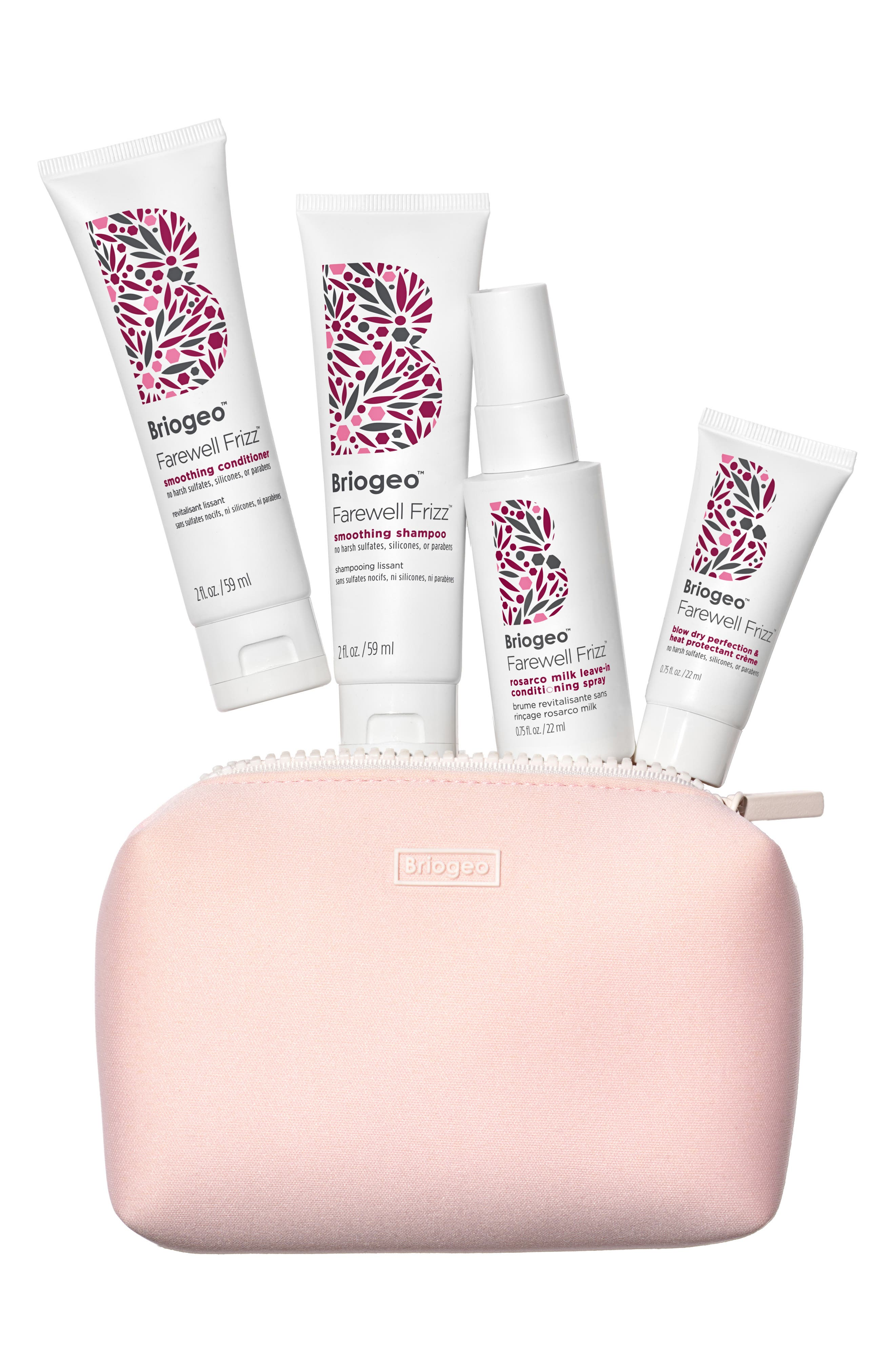 BRIOGEO Farewell Frizz Travel Kit, Main, color, NO COLOR