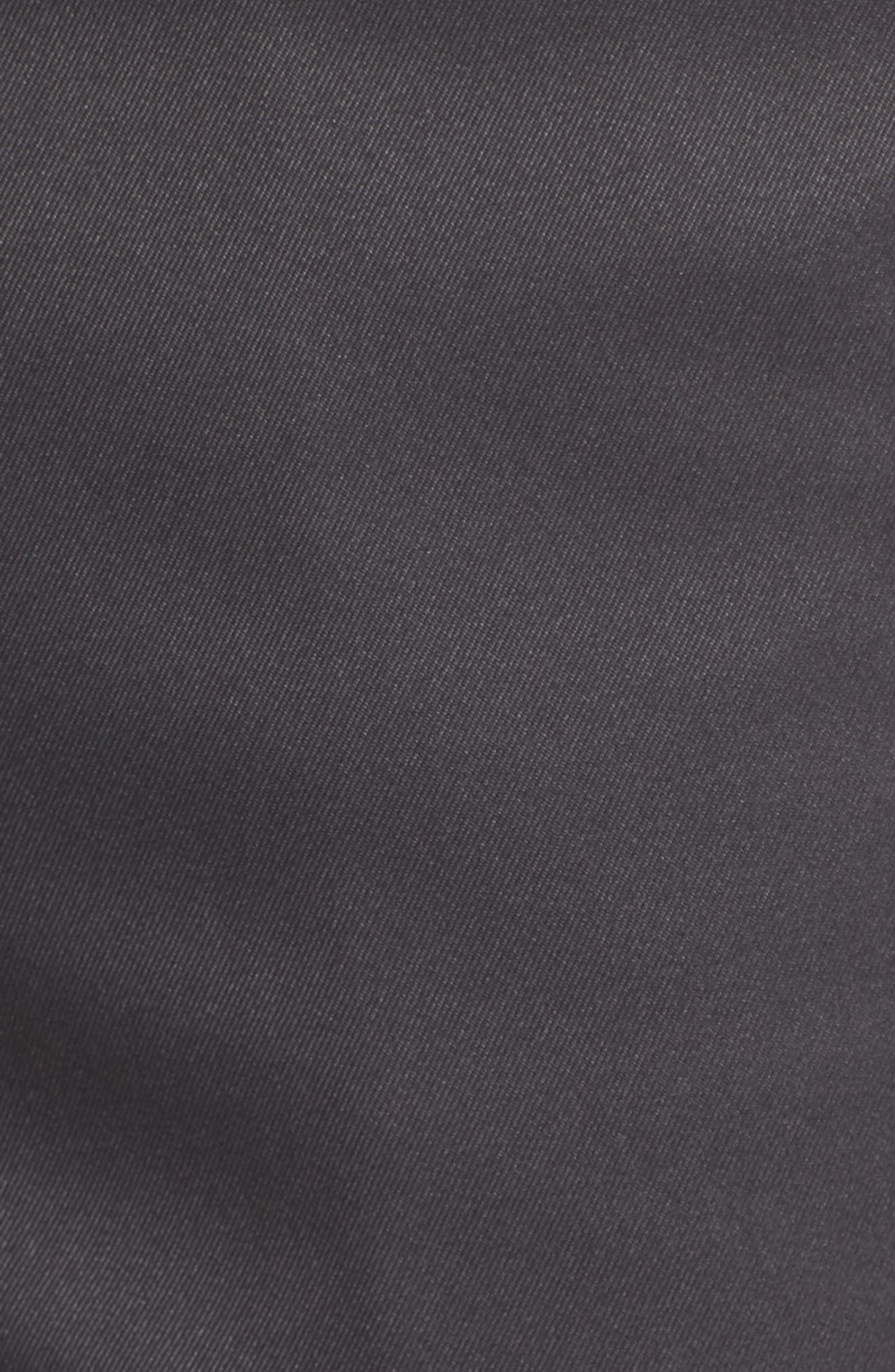 BOBBY JONES, Flat Front Tech Shorts, Alternate thumbnail 5, color, CHARCOAL