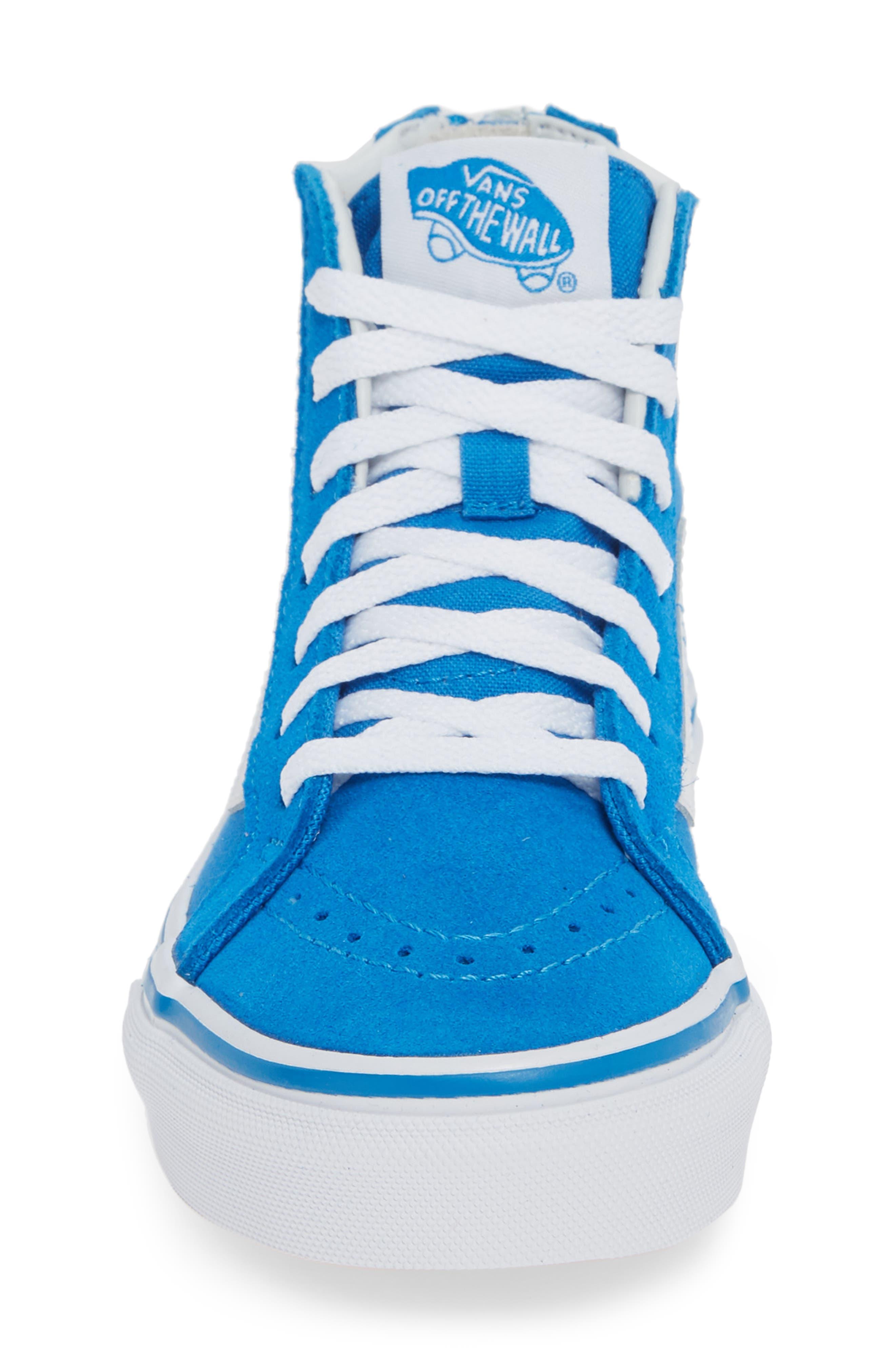 VANS, 'Sk8-Hi' Sneaker, Alternate thumbnail 4, color, INDIGO BUNTING/ TRUE WHITE