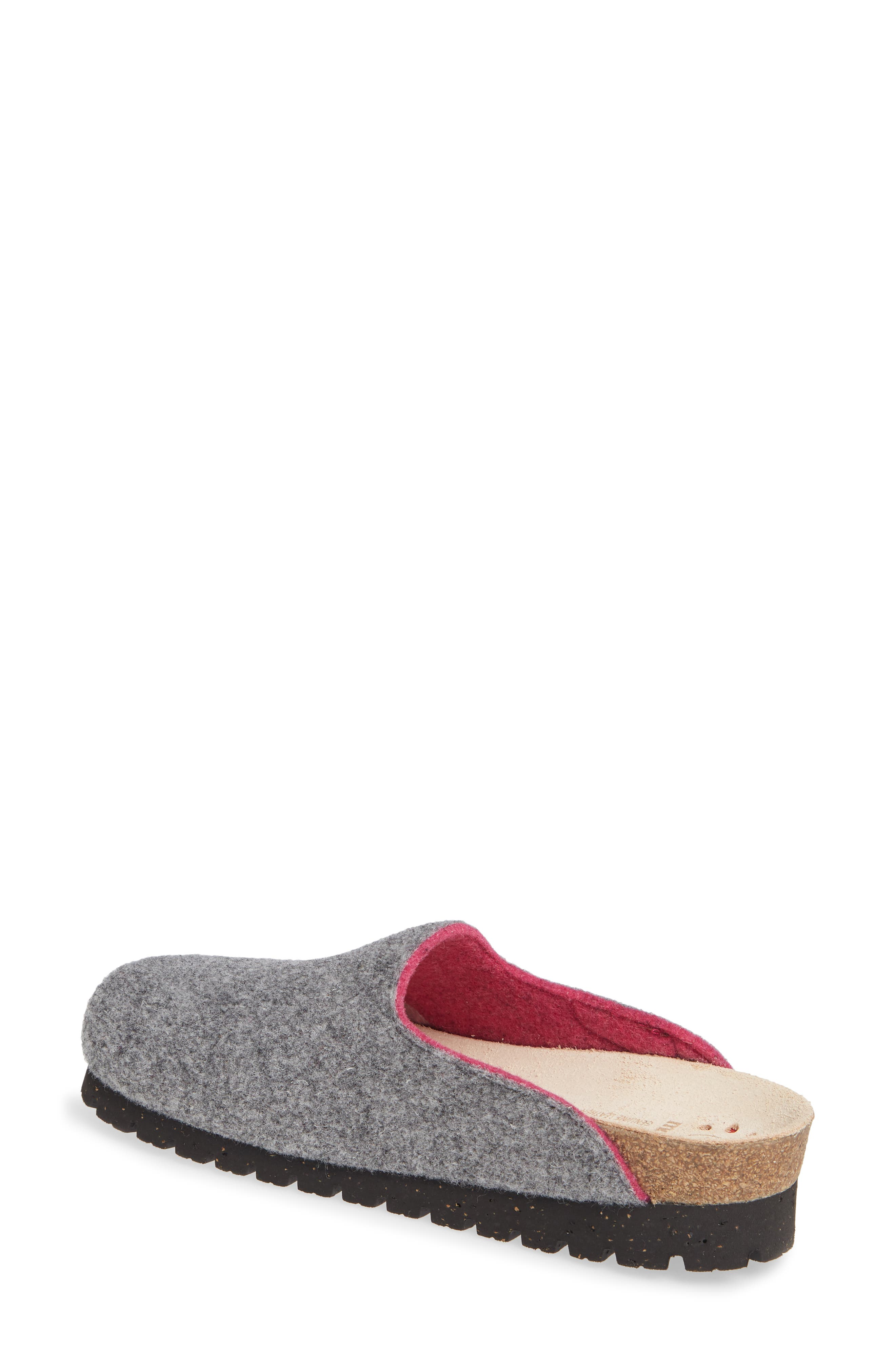 MEPHISTO, Thea Boiled Wool Clog, Alternate thumbnail 2, color, GREY FABRIC