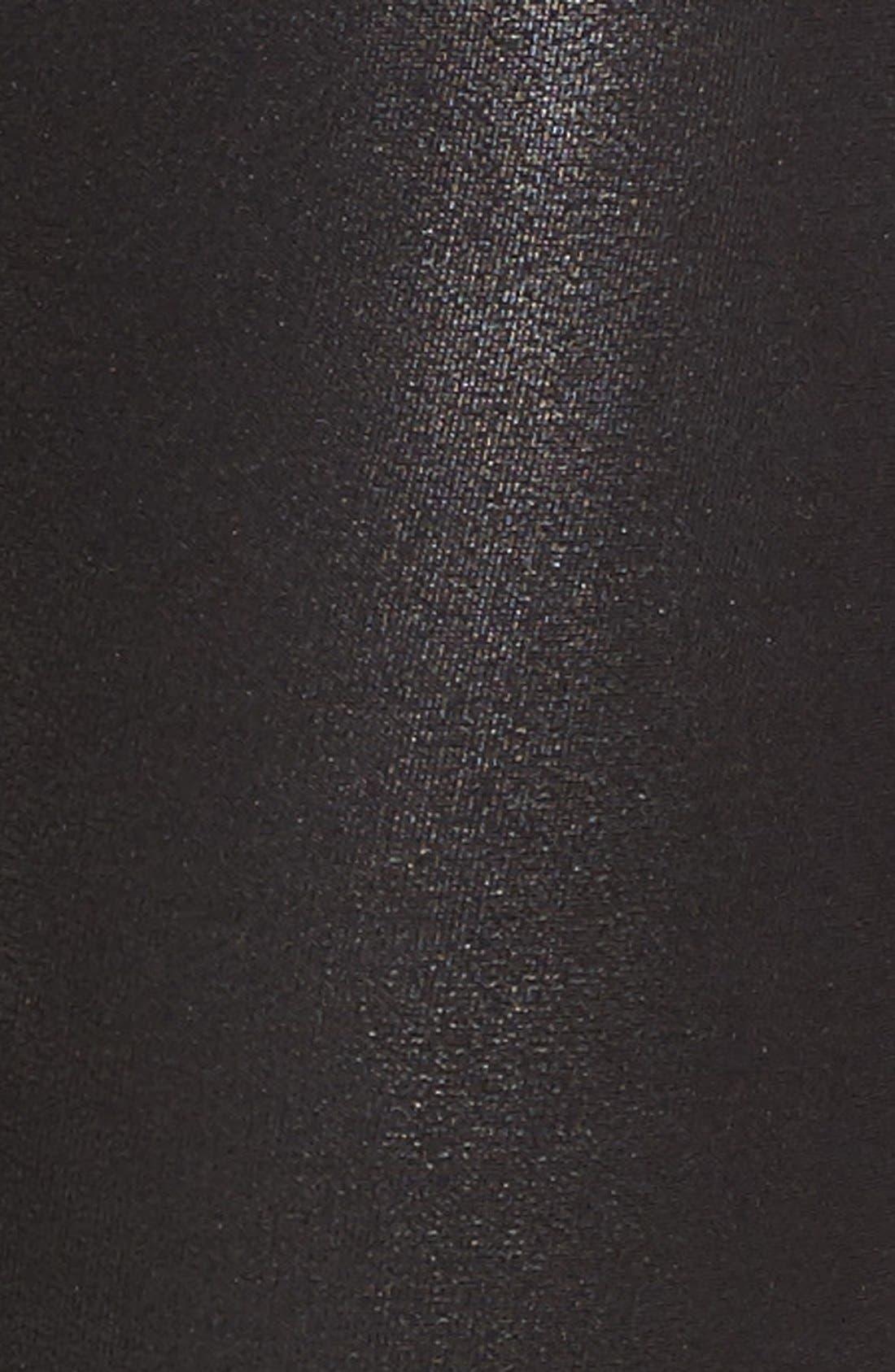 SPANX<SUP>®</SUP>, Faux Leather Leggings, Alternate thumbnail 9, color, BLACK