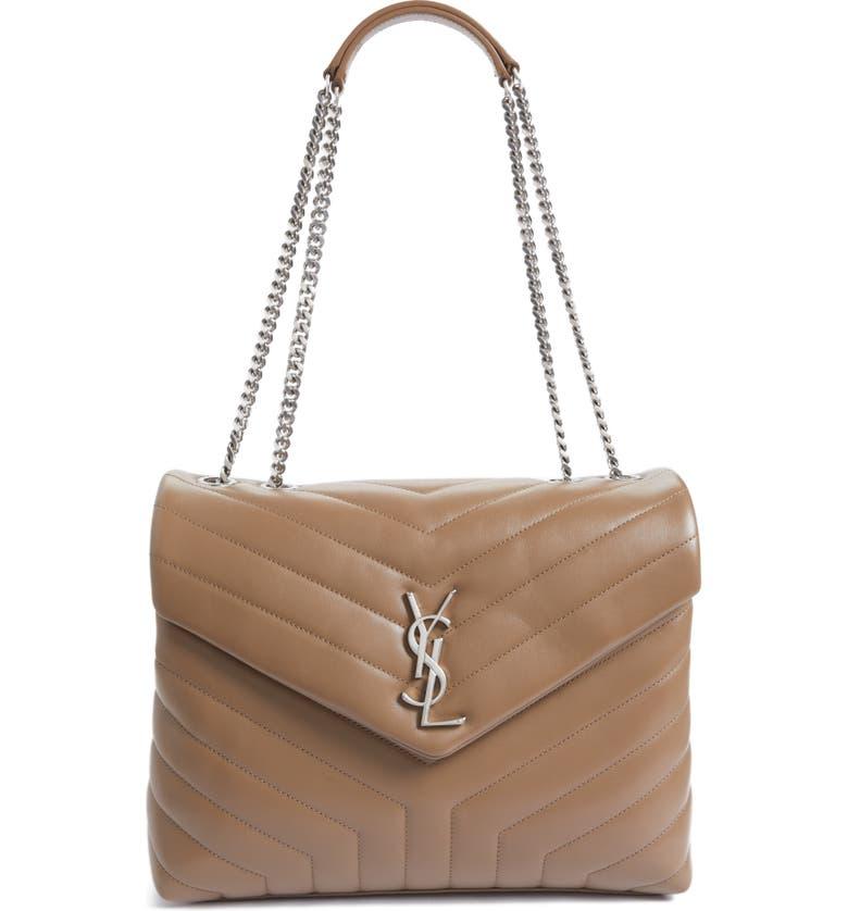 5c4eacdf50f Saint Laurent Loulou Monogram Ysl Medium Chain Shoulder Bag