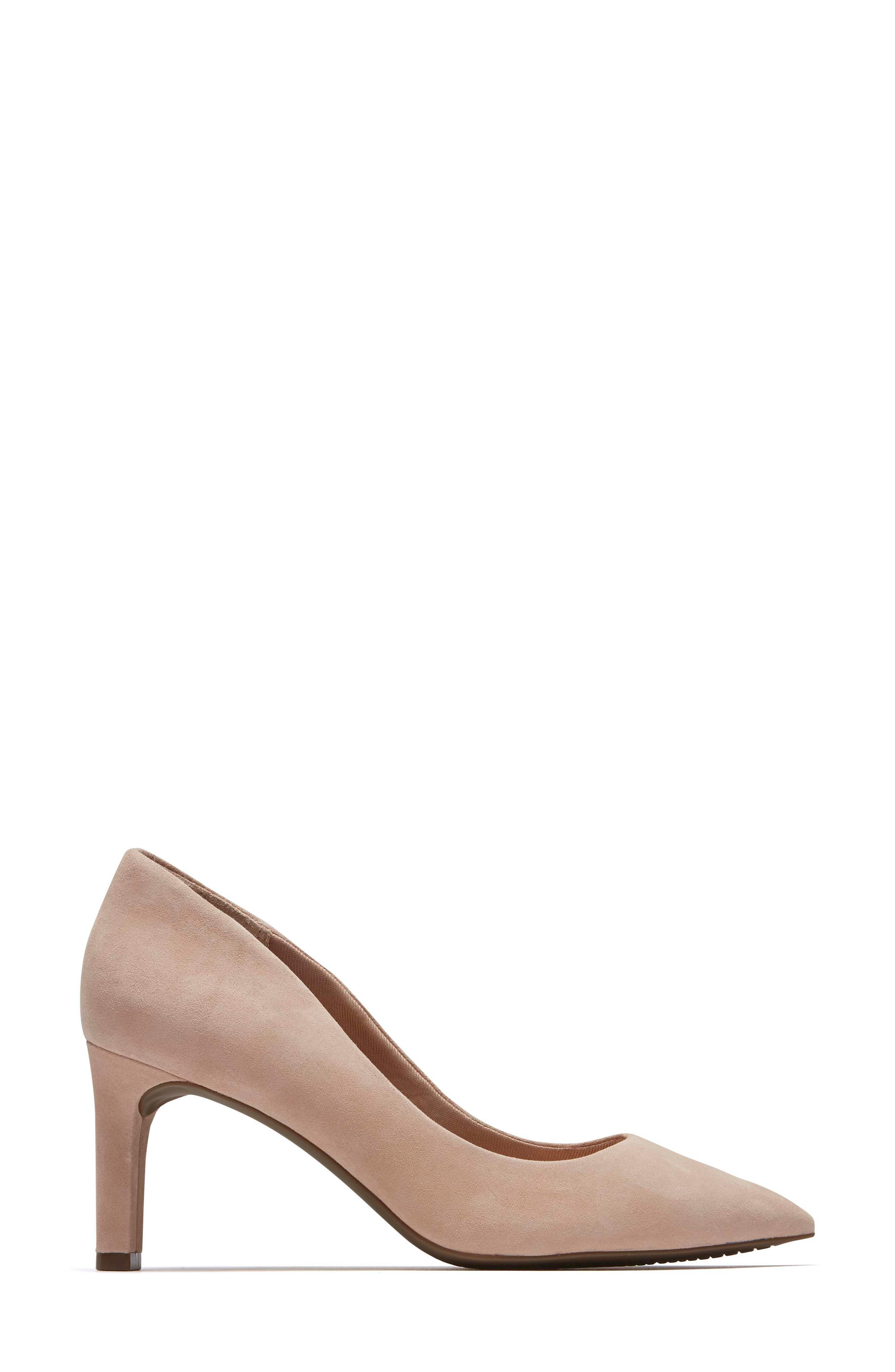 ROCKPORT, Total Motion Luxe Valerie Pump, Alternate thumbnail 3, color, BLUSH SUEDE