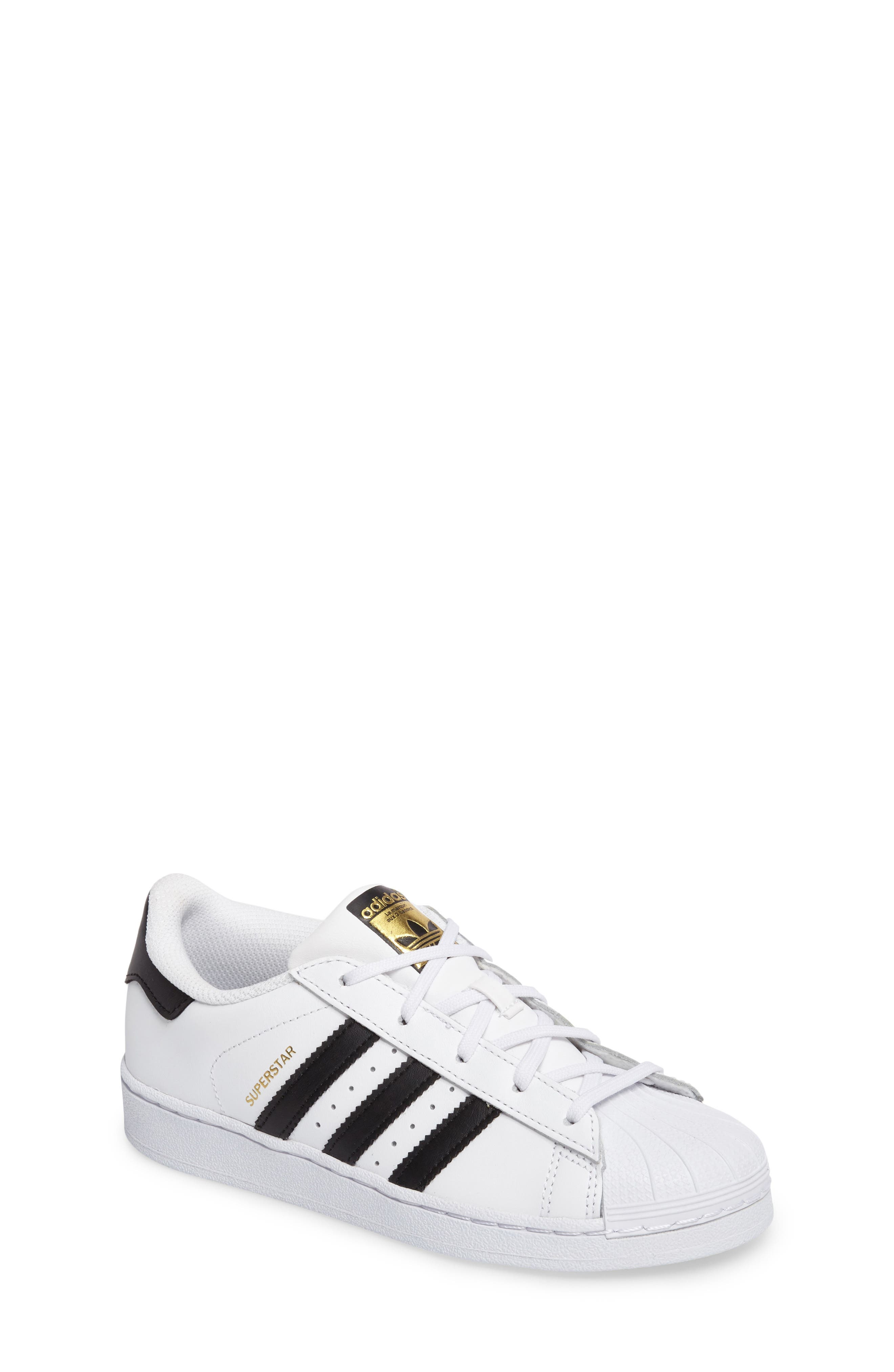 ADIDAS, 'Superstar Foundation' Sneaker, Main thumbnail 1, color, WHITE/ BLACK