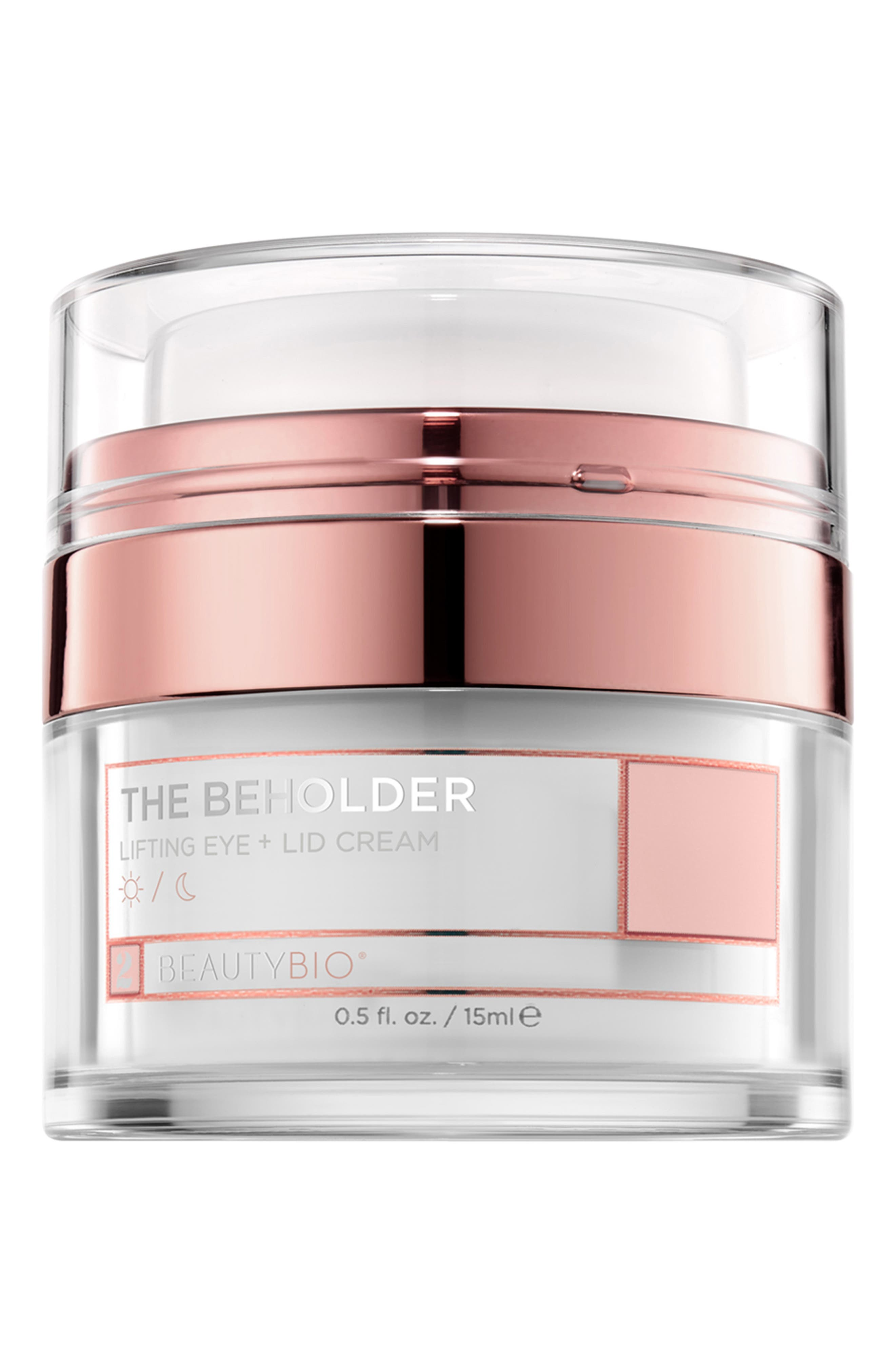 BEAUTYBIO, The Beholder Lifting Eye & Lid Cream, Main thumbnail 1, color, 000