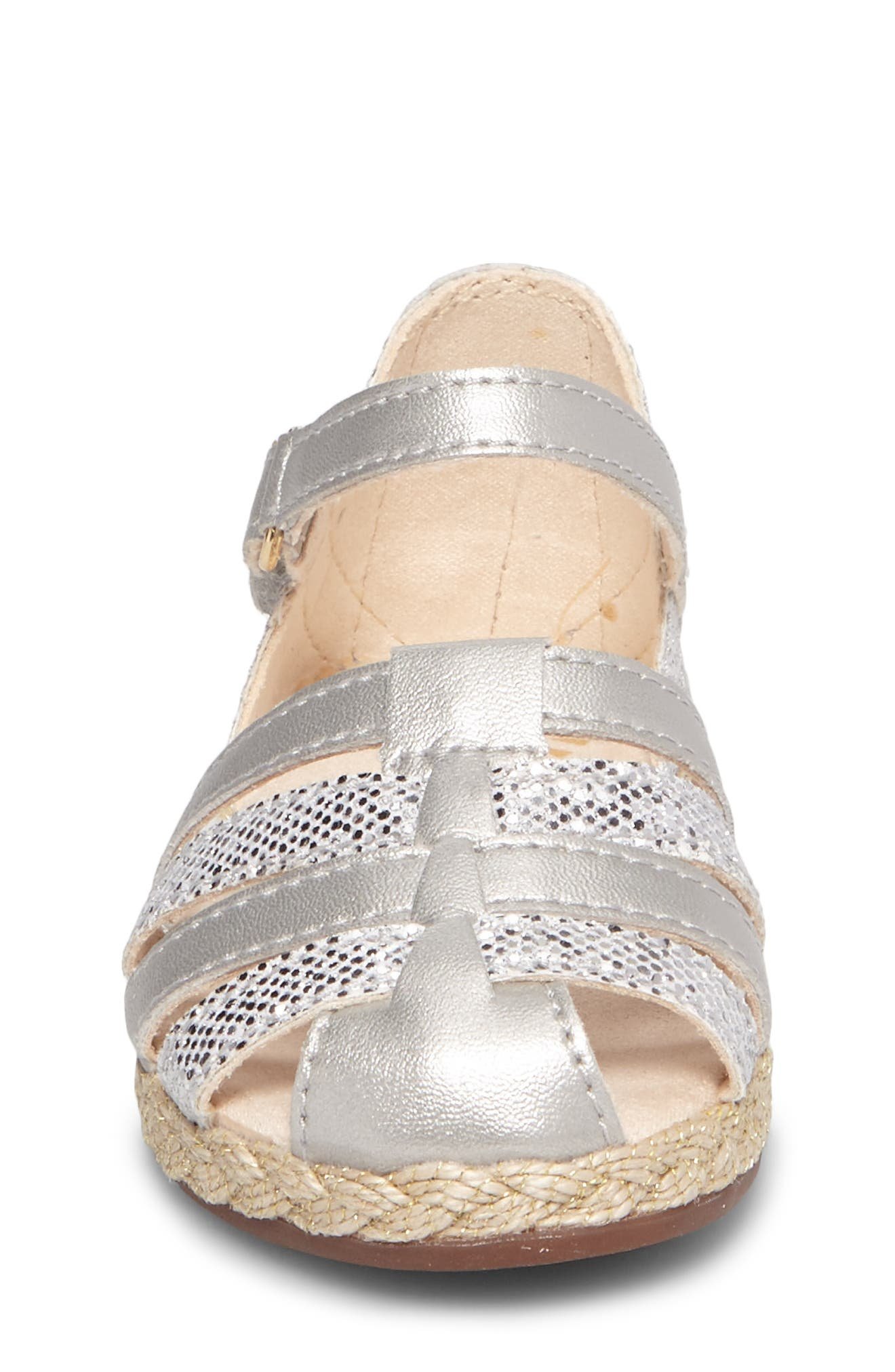 UGG<SUP>®</SUP>, Matilde Espadrille Sandal, Alternate thumbnail 4, color, METALLIC