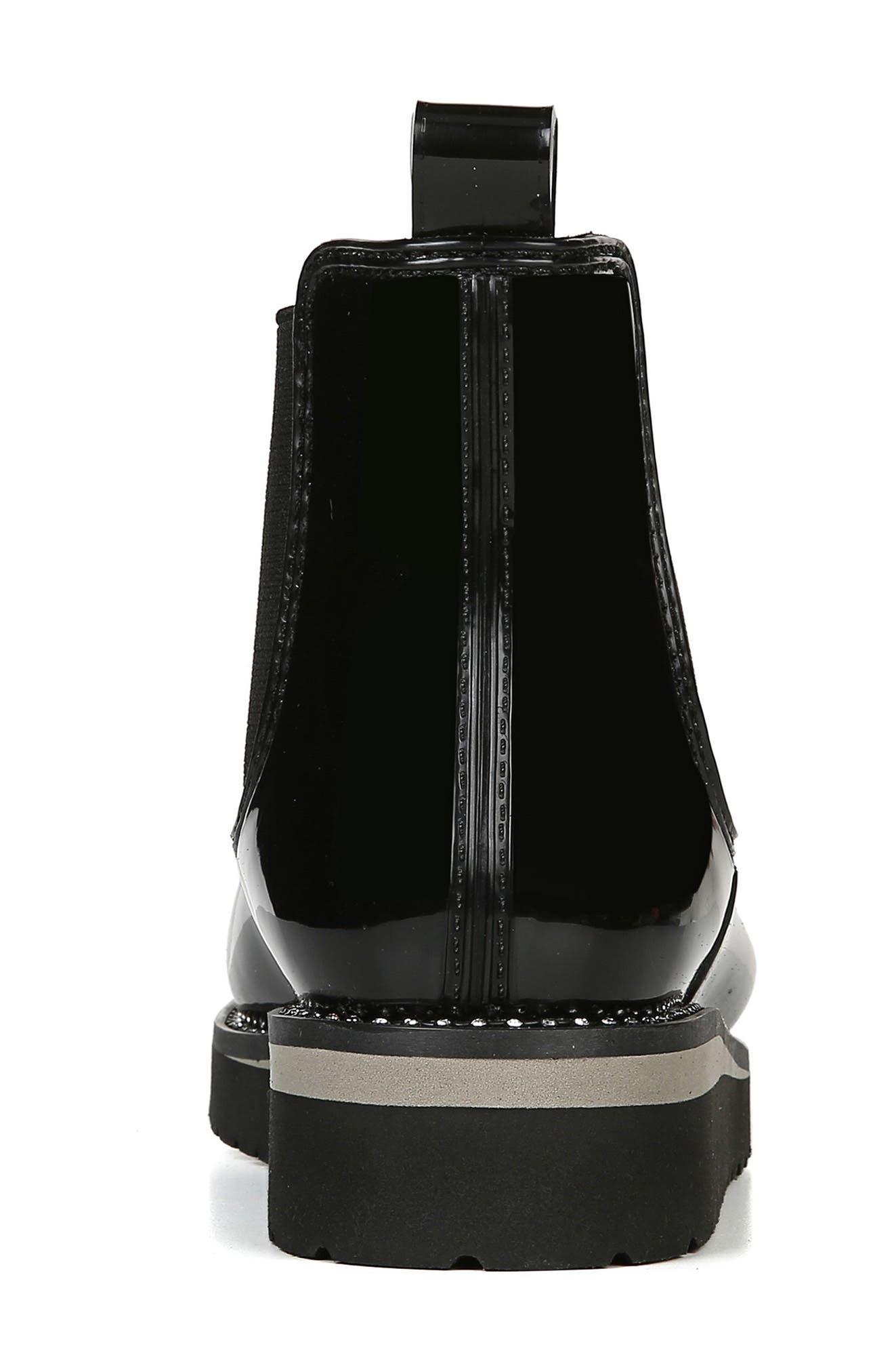 NATURALIZER, Luna Waterproof Chelsea Boot, Alternate thumbnail 8, color, BLACK