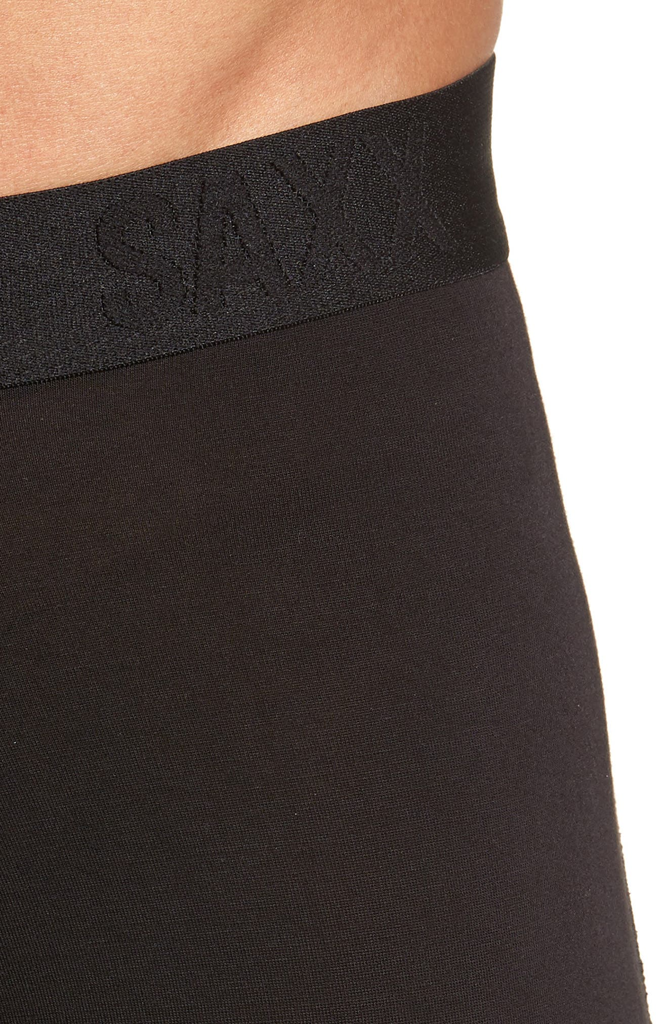 SAXX, 'Vibe' Stretch Boxer Briefs, Alternate thumbnail 4, color, BLACK/ BLACK