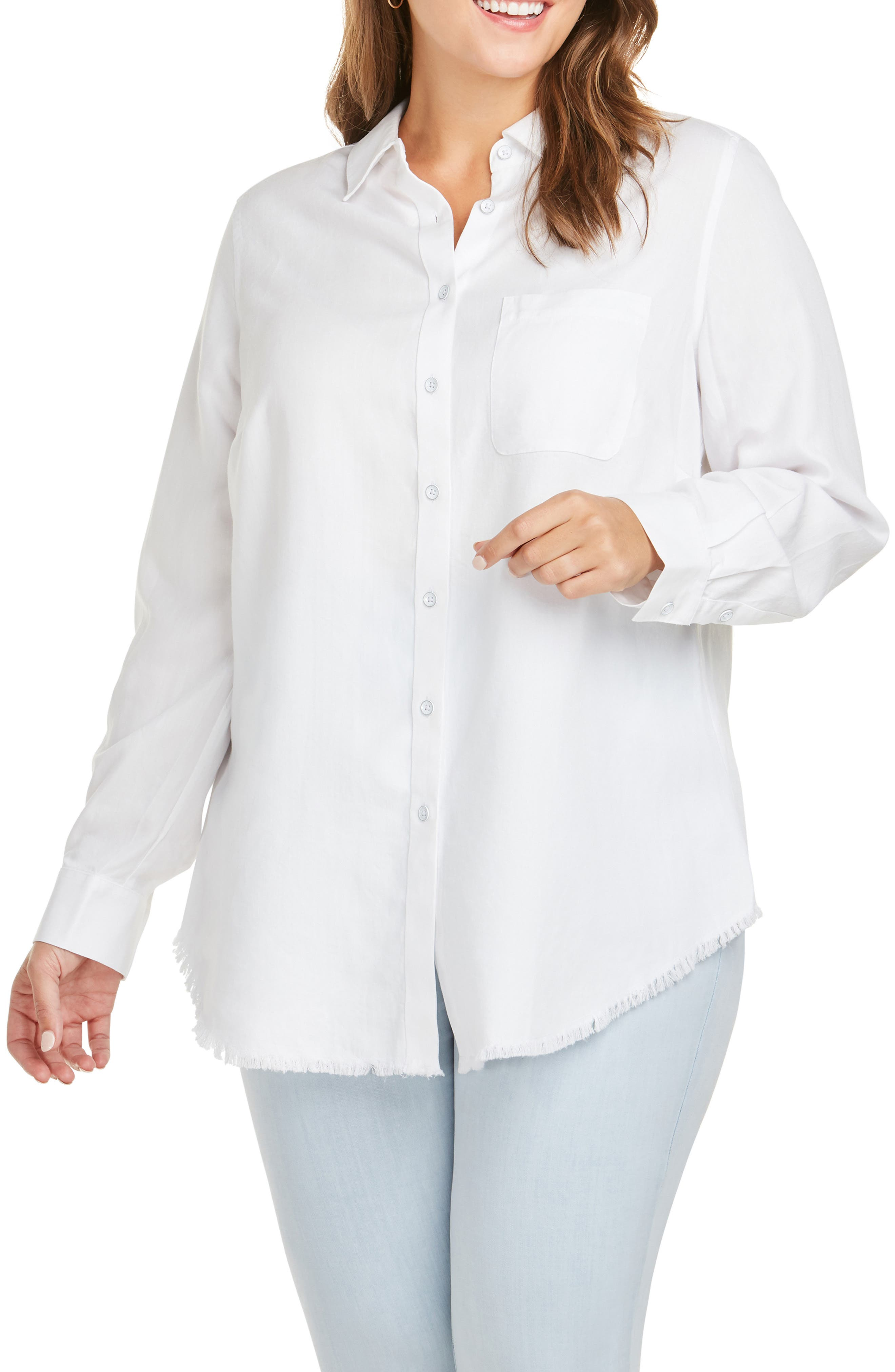 FOXCROFT Haven Shirt, Main, color, WHITE