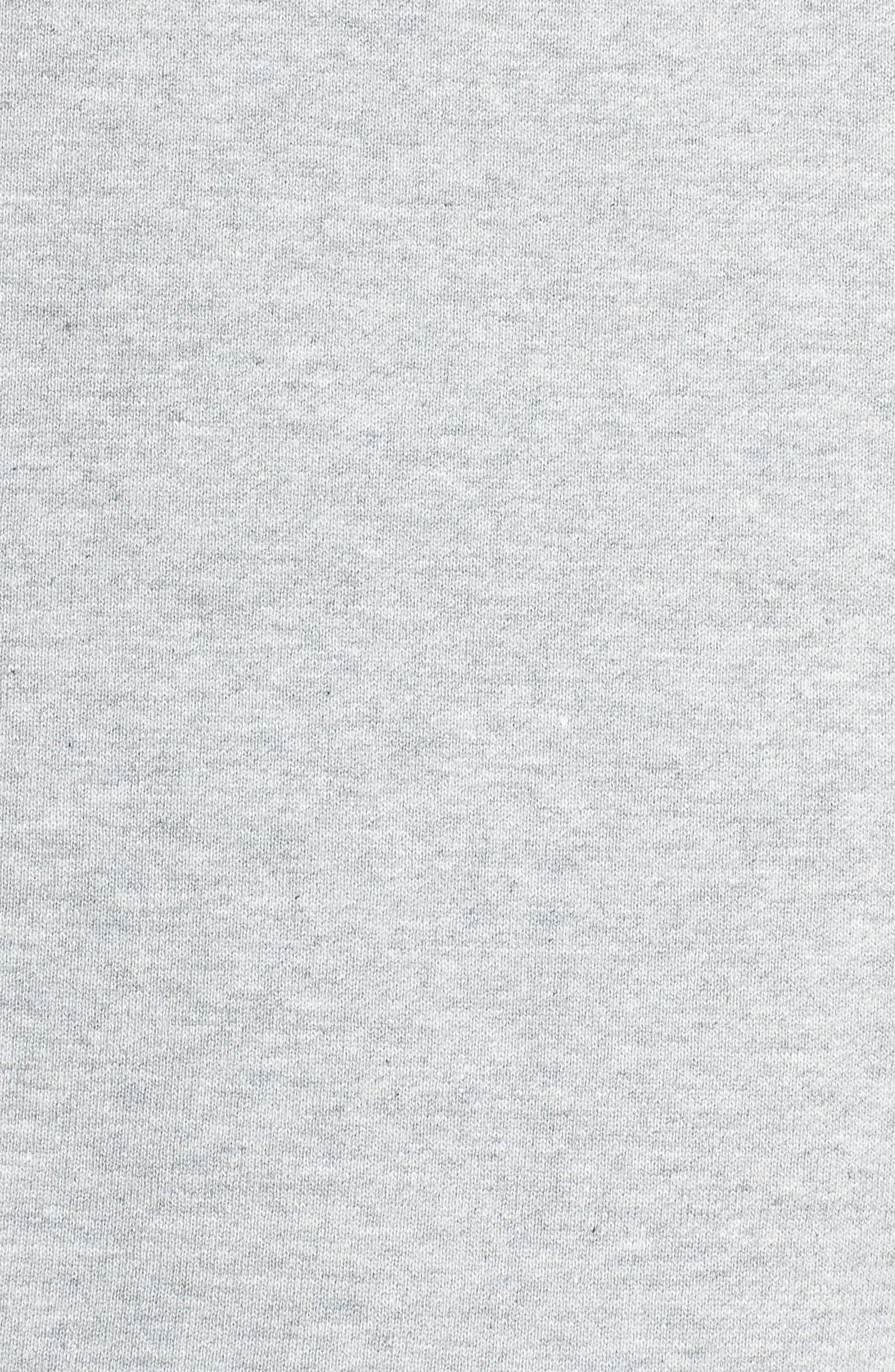 NIKE, Sportswear Logo Oversize Sweatshirt, Alternate thumbnail 6, color, DARK GREY HEATHER