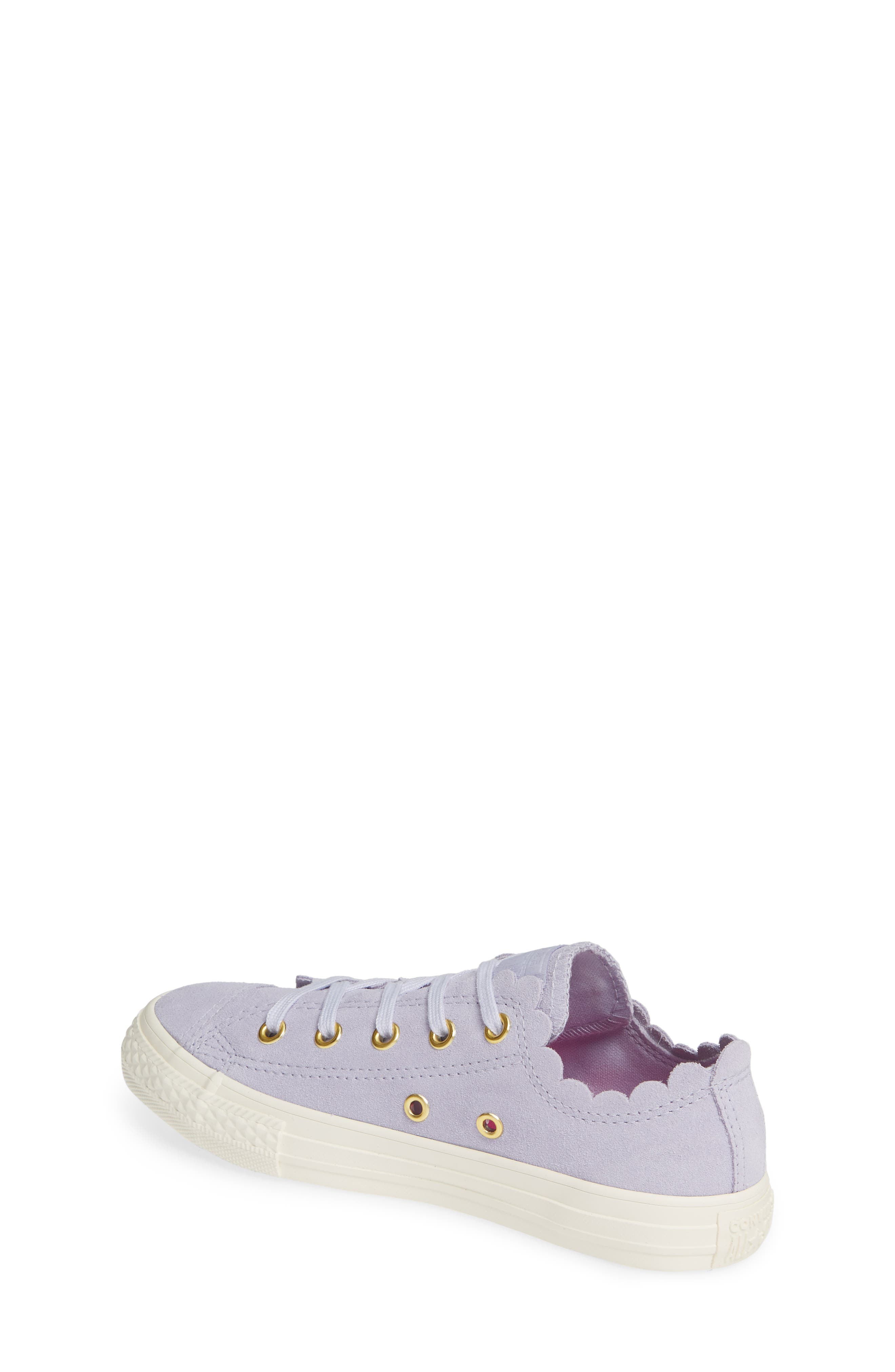 CONVERSE, Chuck Taylor<sup>®</sup> All Star<sup>®</sup> Ox Scallop Sneaker, Alternate thumbnail 2, color, OXYGEN PURPLE/ OXYGEN PURPLE