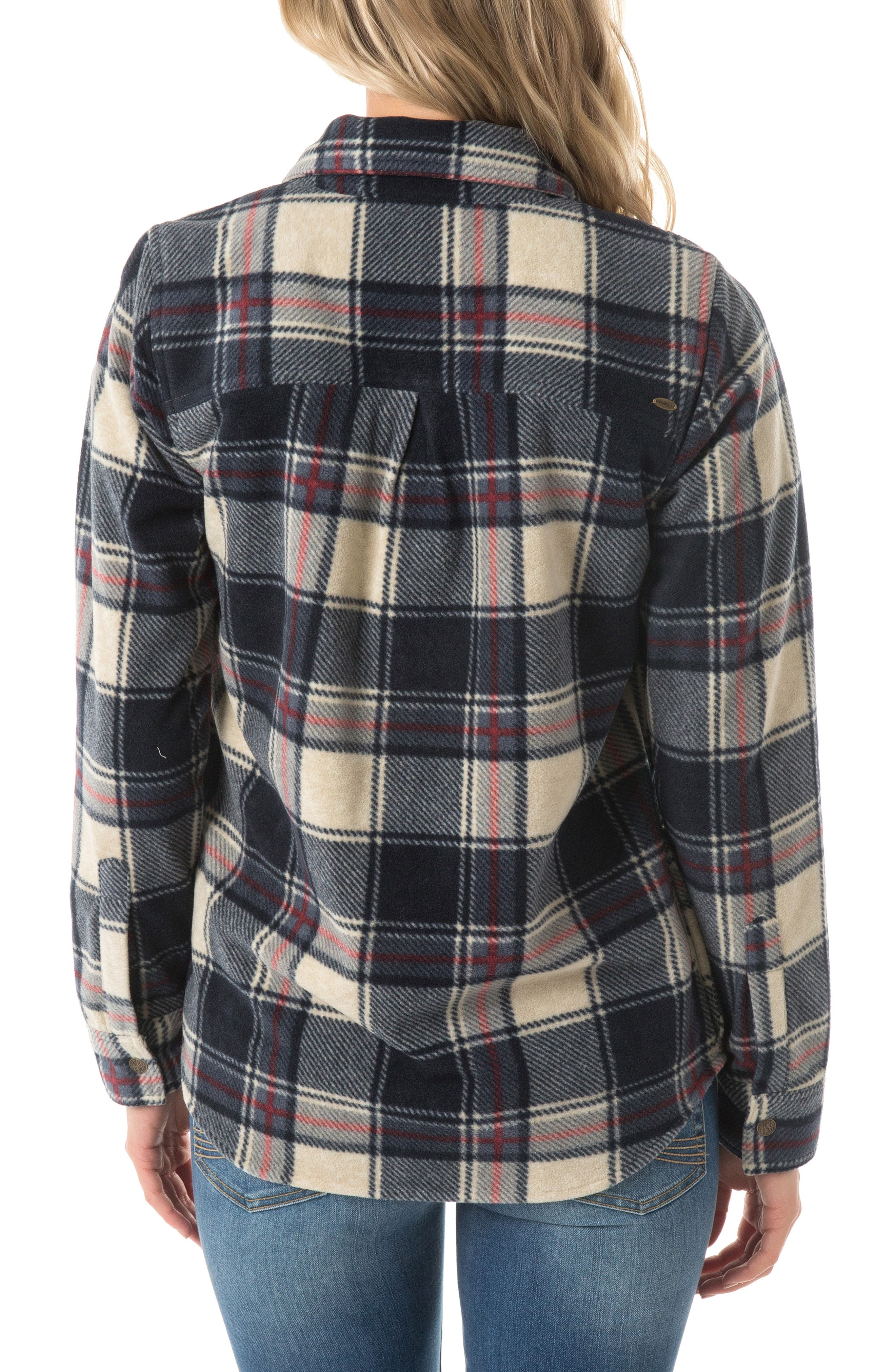 O'NEILL, Zuma Plaid Fleece Flannel Shirt, Alternate thumbnail 2, color, 021