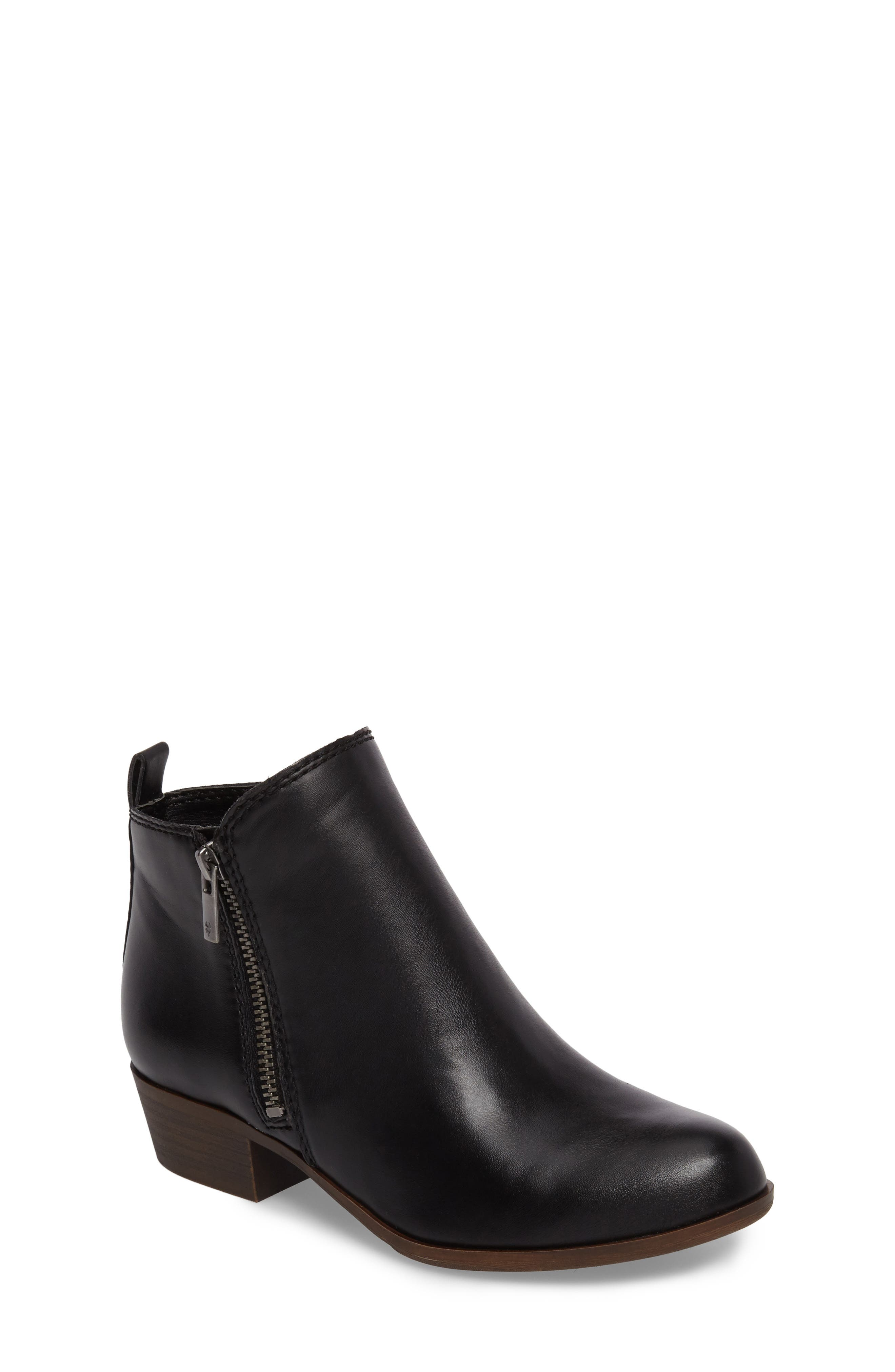 LUCKY BRAND, Basel Double-Zip Bootie, Main thumbnail 1, color, 001