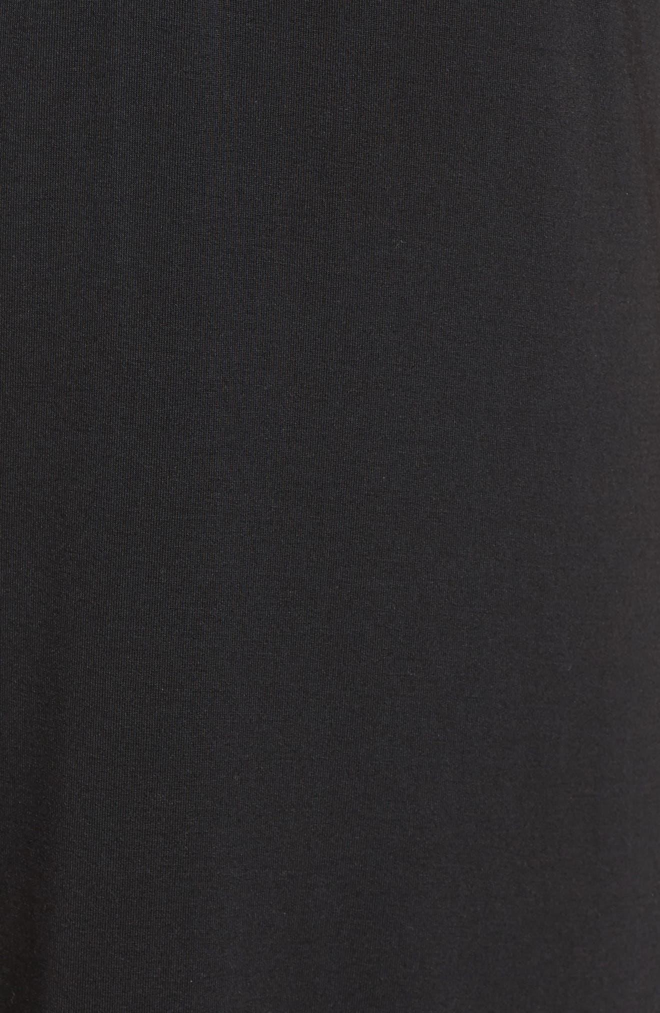 PJ SALVAGE, Sleep Shirt, Alternate thumbnail 5, color, BLACK