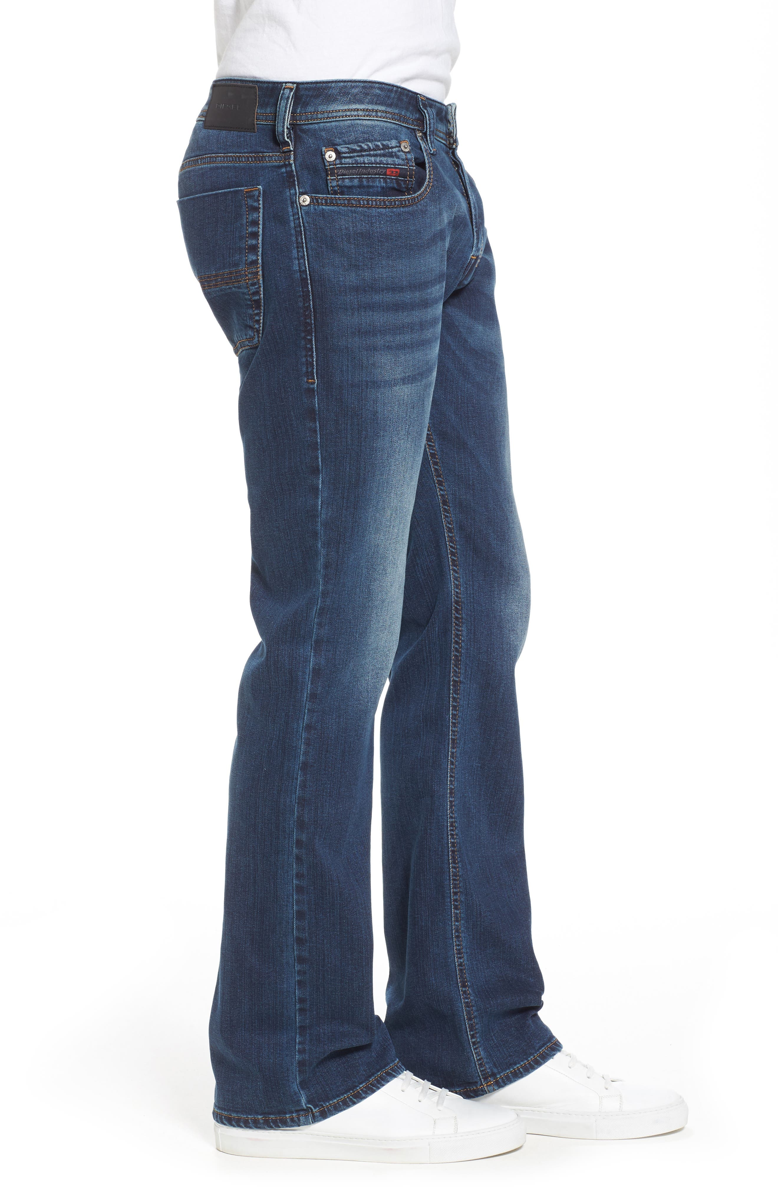 DIESEL<SUP>®</SUP>, Zatiny Bootcut Jeans, Alternate thumbnail 4, color, 084BU