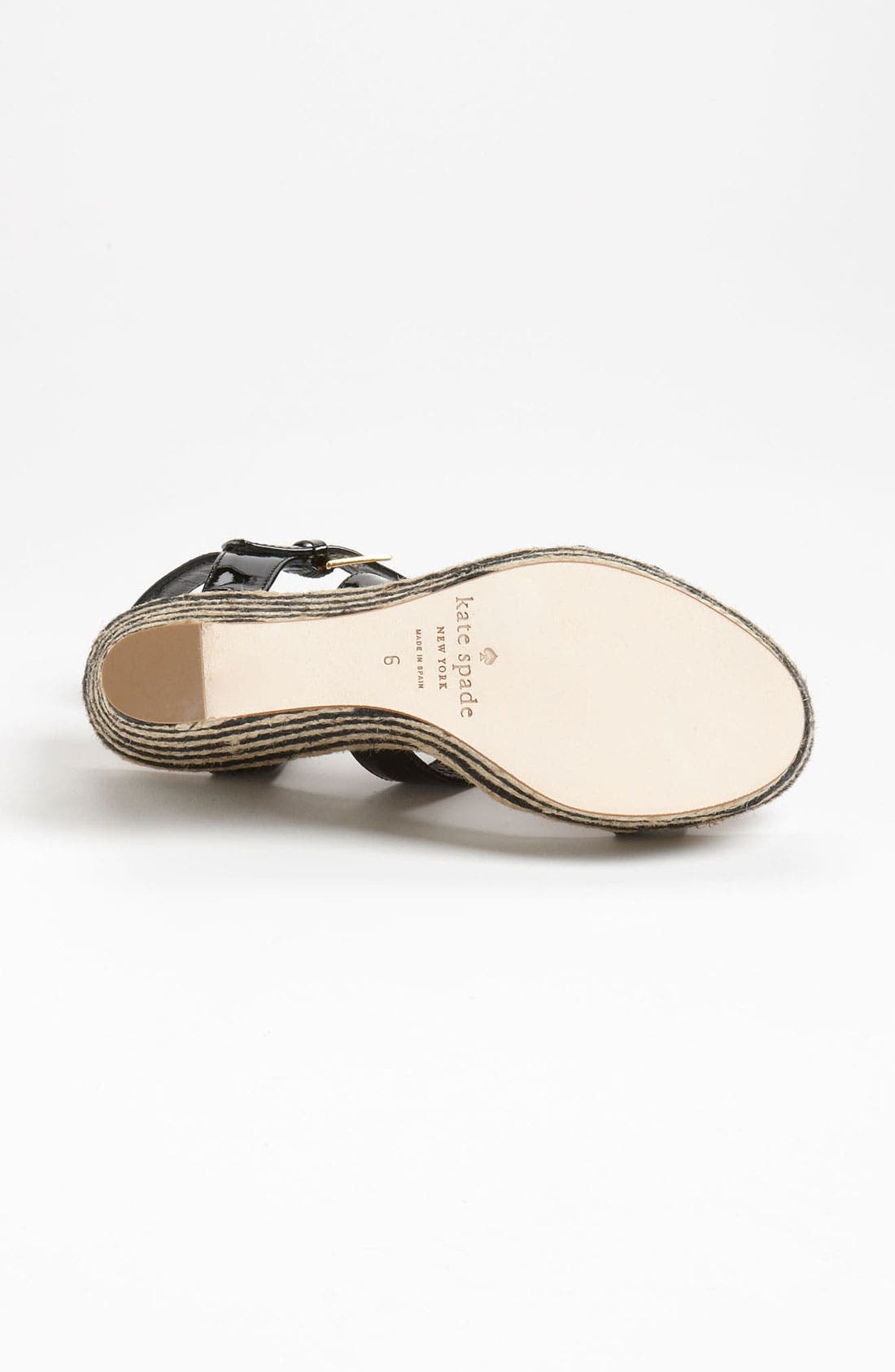 KATE SPADE NEW YORK, 'darla' sandal, Alternate thumbnail 3, color, 001