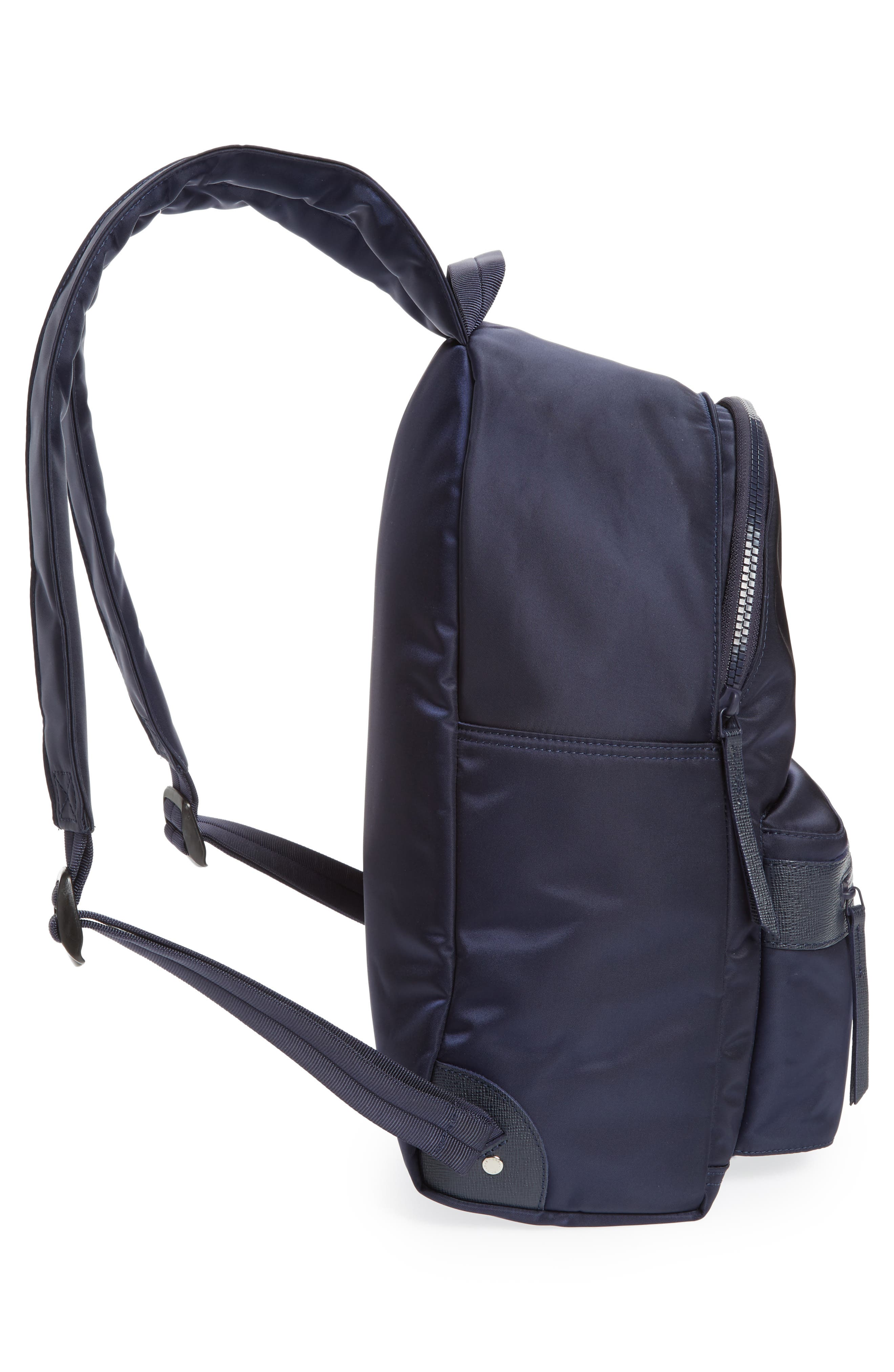 LONGCHAMP, 'Le Pliage Neo' Nylon Backpack, Alternate thumbnail 6, color, NAVY BLUE