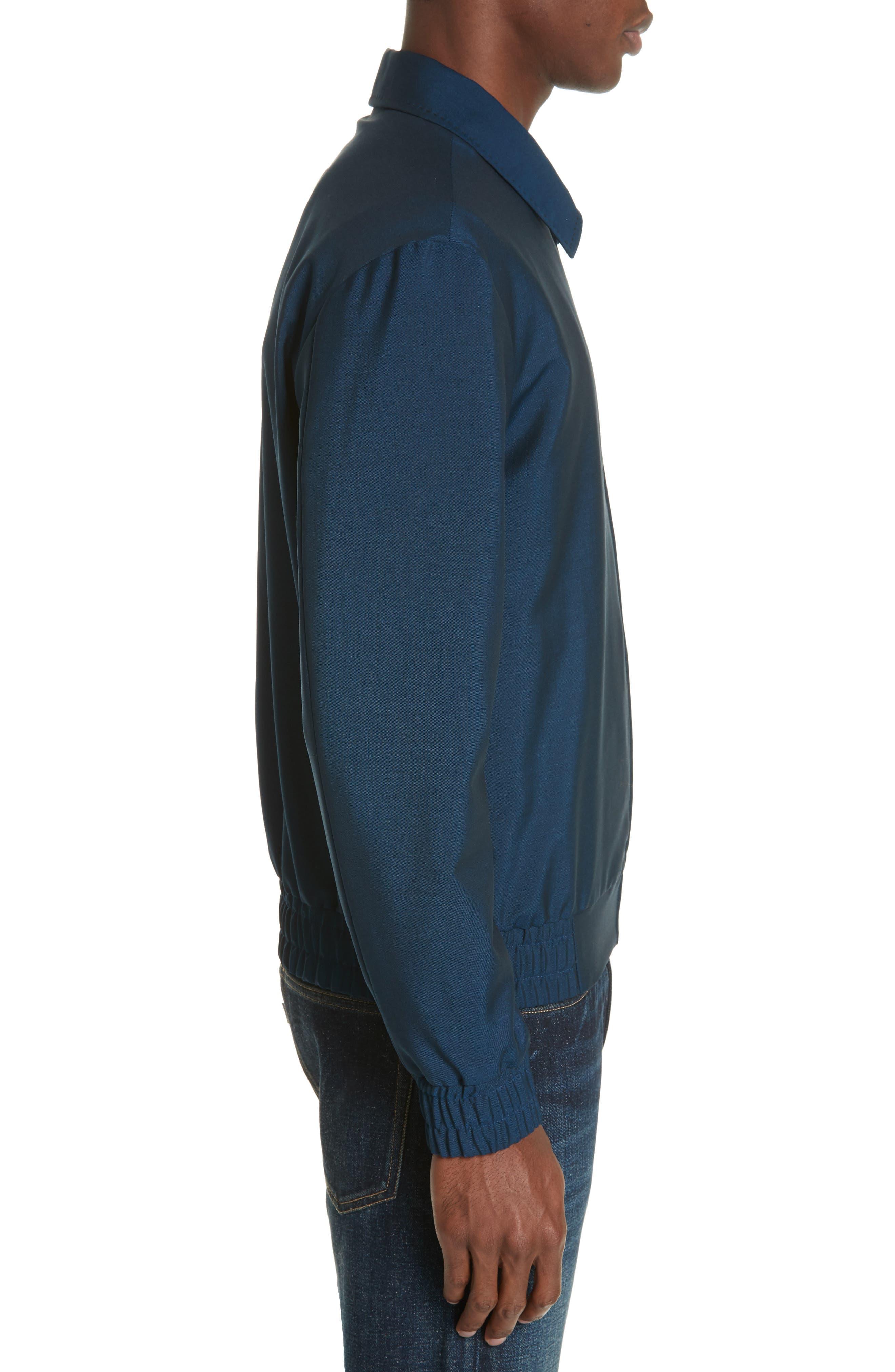 KENZO, Zip Jacket, Alternate thumbnail 3, color, DUCK BLUE