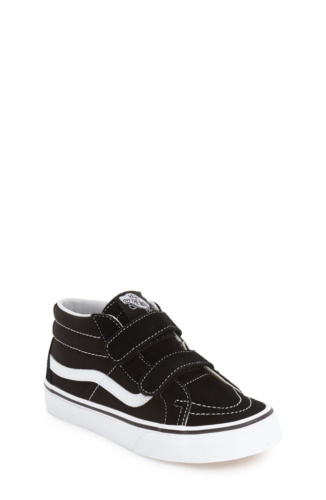 VANS, 'Sk8-Hi Reissue V' Sneaker, Main thumbnail 1, color, BLACK/ TRUE WHITE