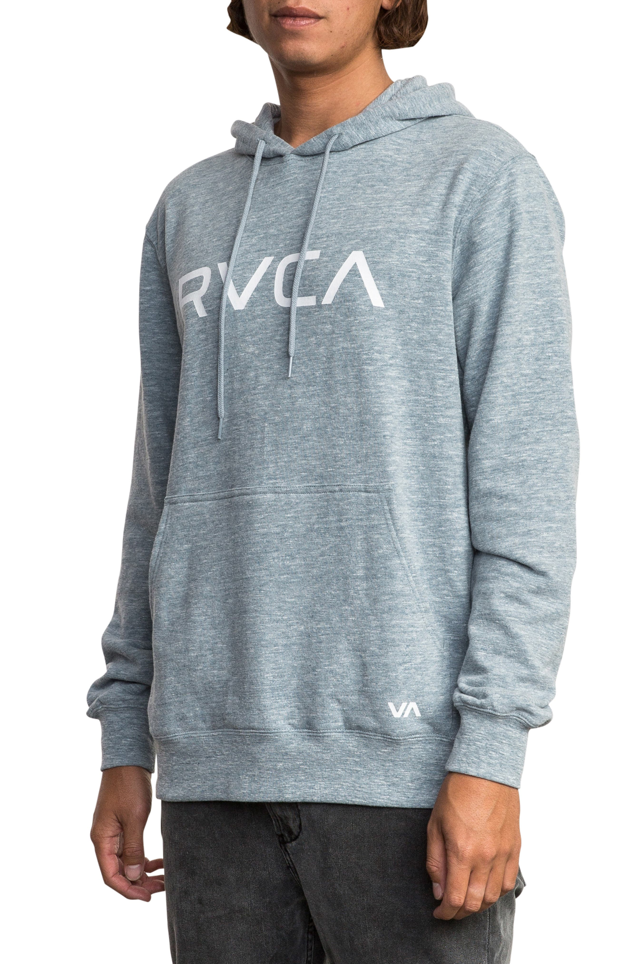 RVCA, Big Logo Hoodie, Alternate thumbnail 3, color, 072