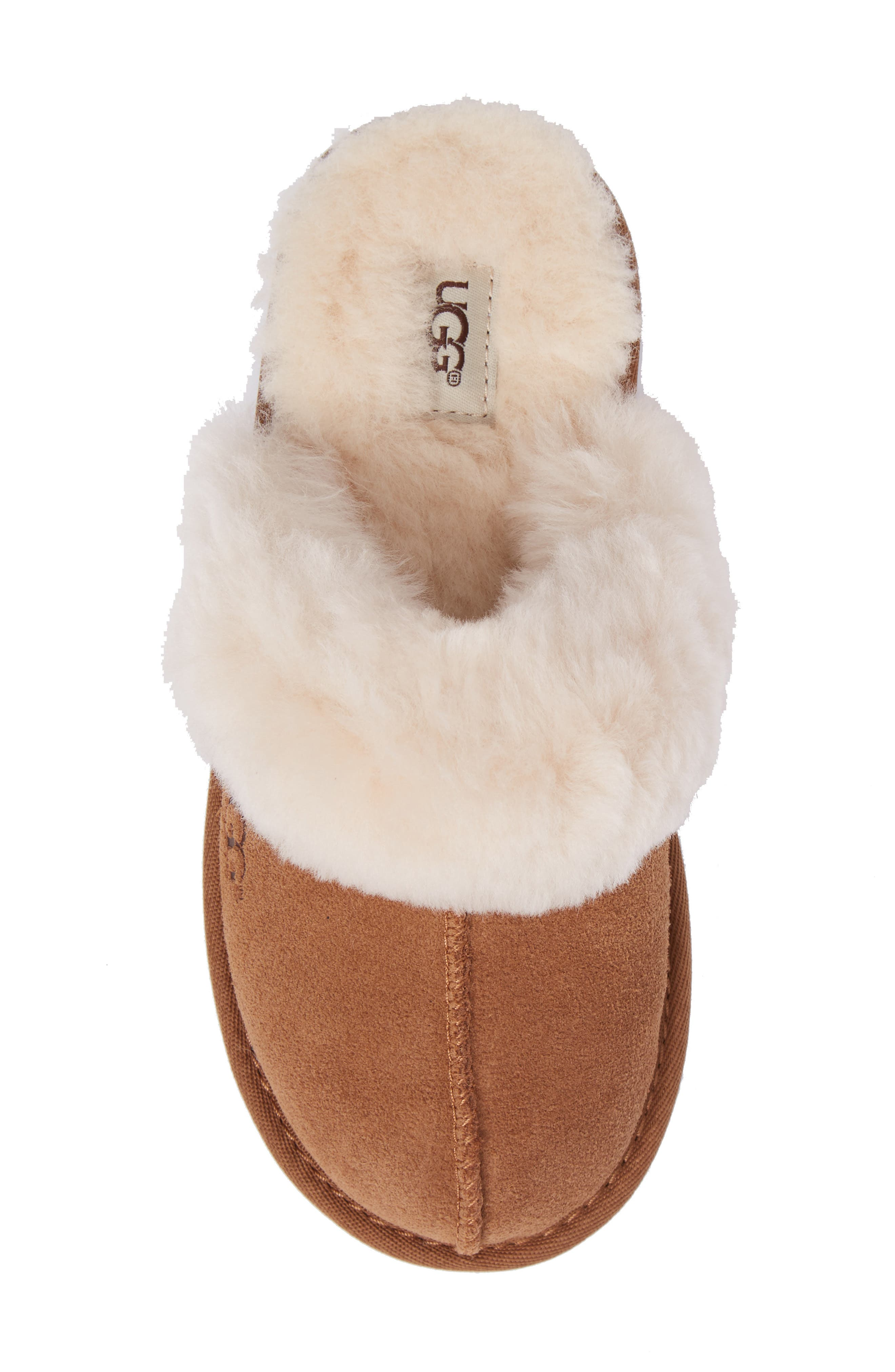 UGG<SUP>®</SUP>, Cozy II Scuff Slipper, Alternate thumbnail 5, color, CHESTNUT