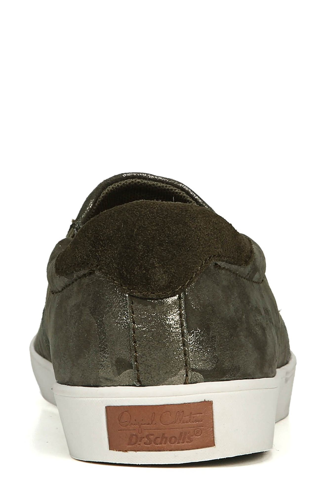 DR. SCHOLL'S, Original Collection 'Scout' Slip On Sneaker, Alternate thumbnail 7, color, GREEN LEATHER