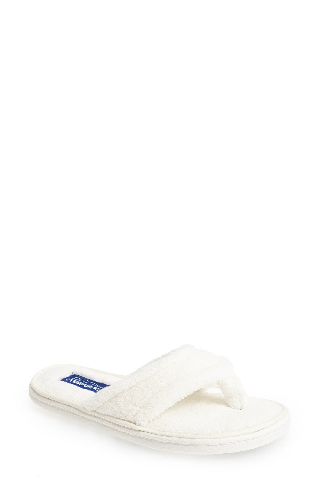 TEMPUR-PEDIC<SUP>®</SUP>, 'Airsock' Thong Slipper, Main thumbnail 1, color, CREAM