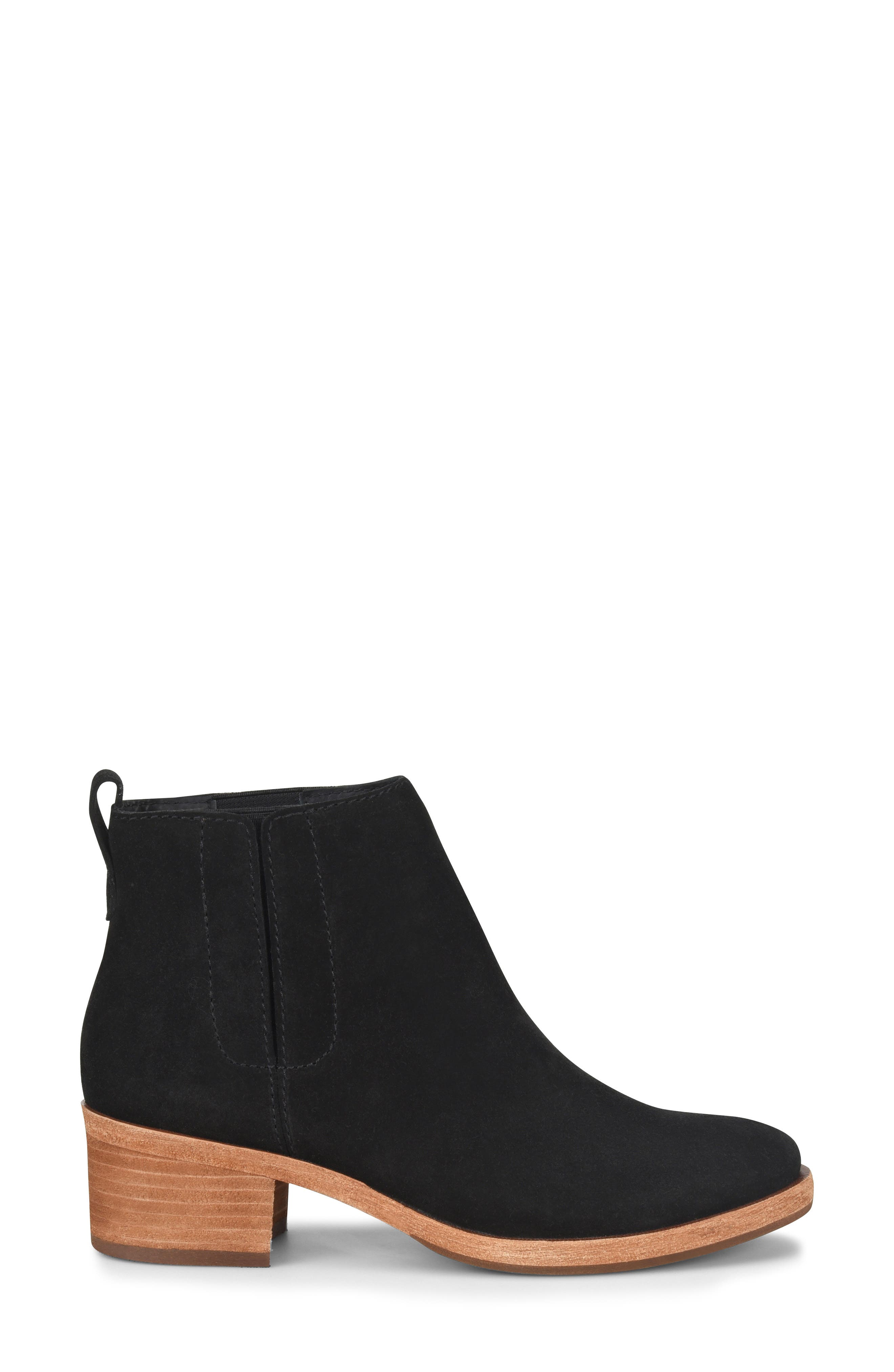 KORK-EASE<SUP>®</SUP>, Mindo Chelsea Bootie, Alternate thumbnail 3, color, BLACK SUEDE