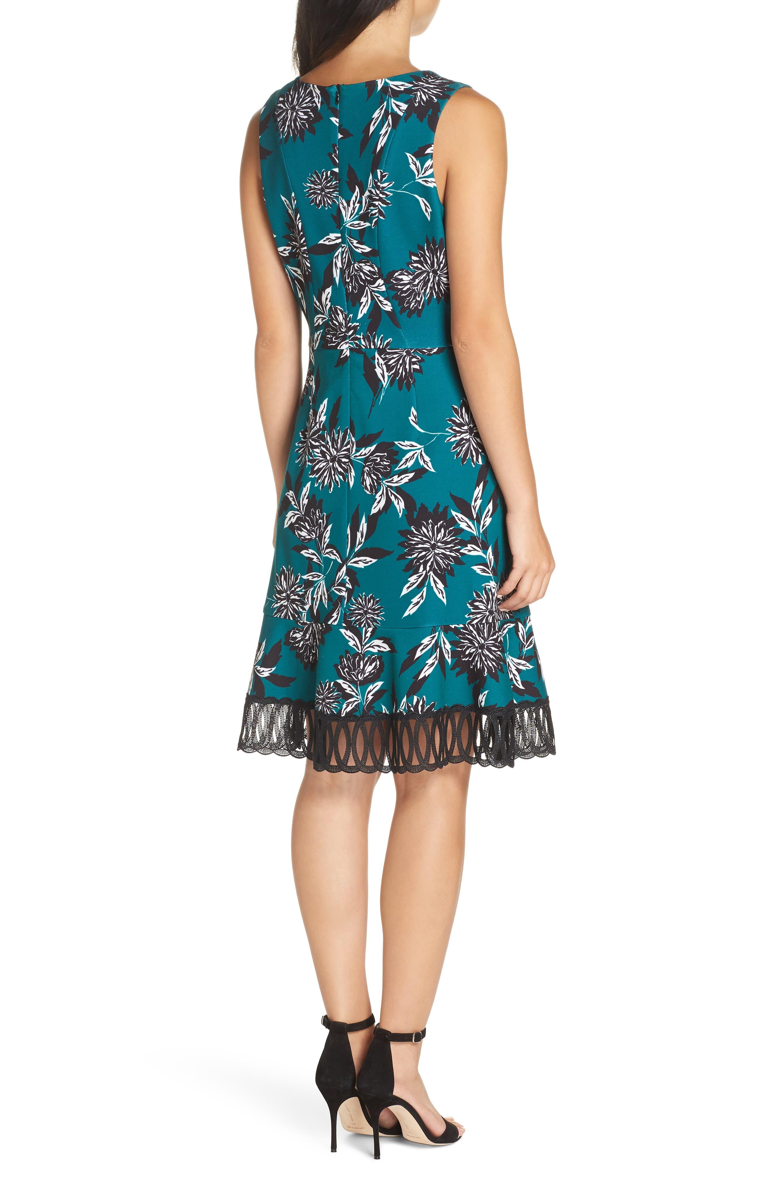 JULIA JORDAN, Crepe Scuba A-Line Dress, Alternate thumbnail 2, color, 300