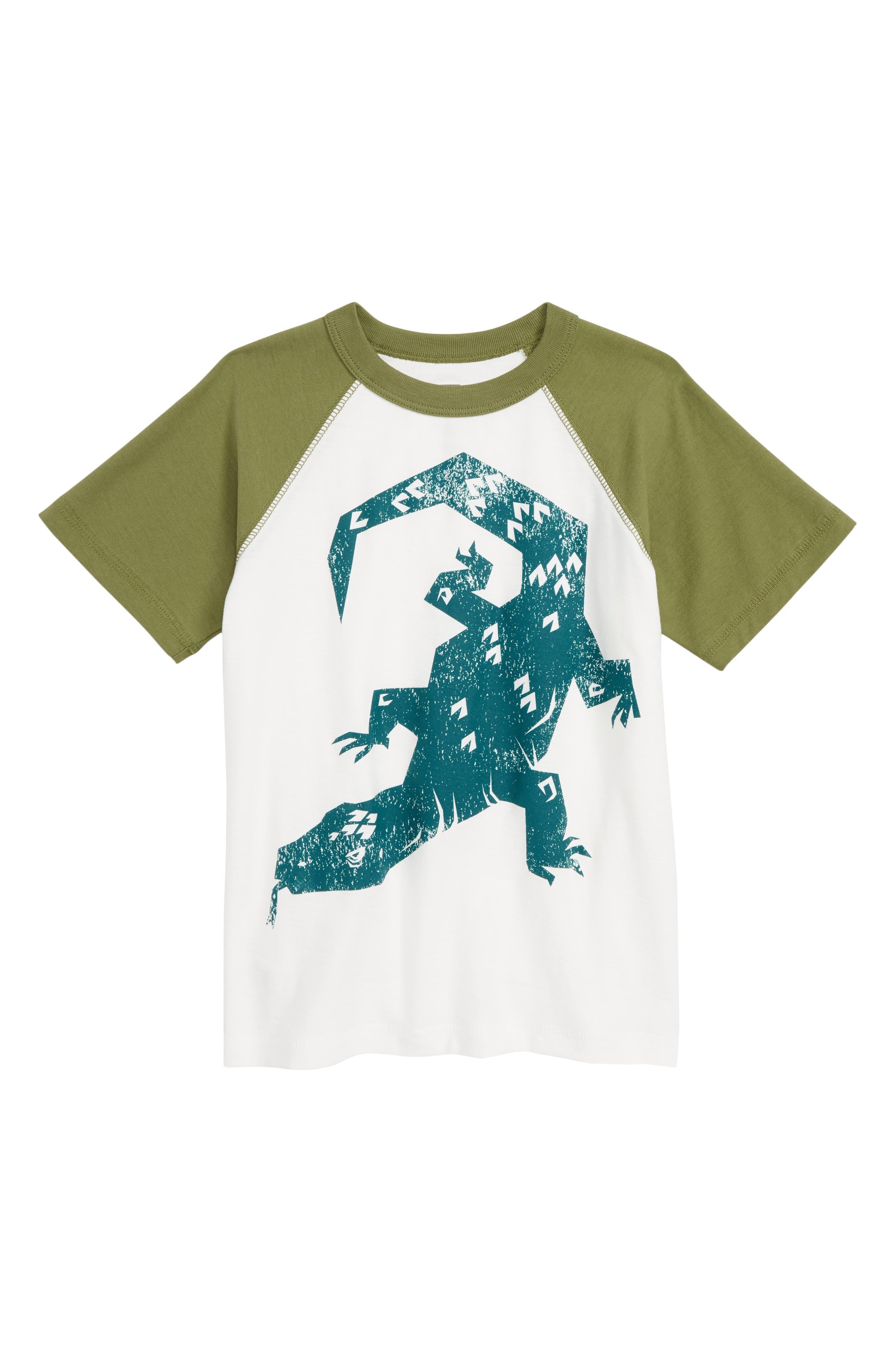 TEA COLLECTION, Komodo Graphic T-Shirt, Main thumbnail 1, color, PAPERWHITE