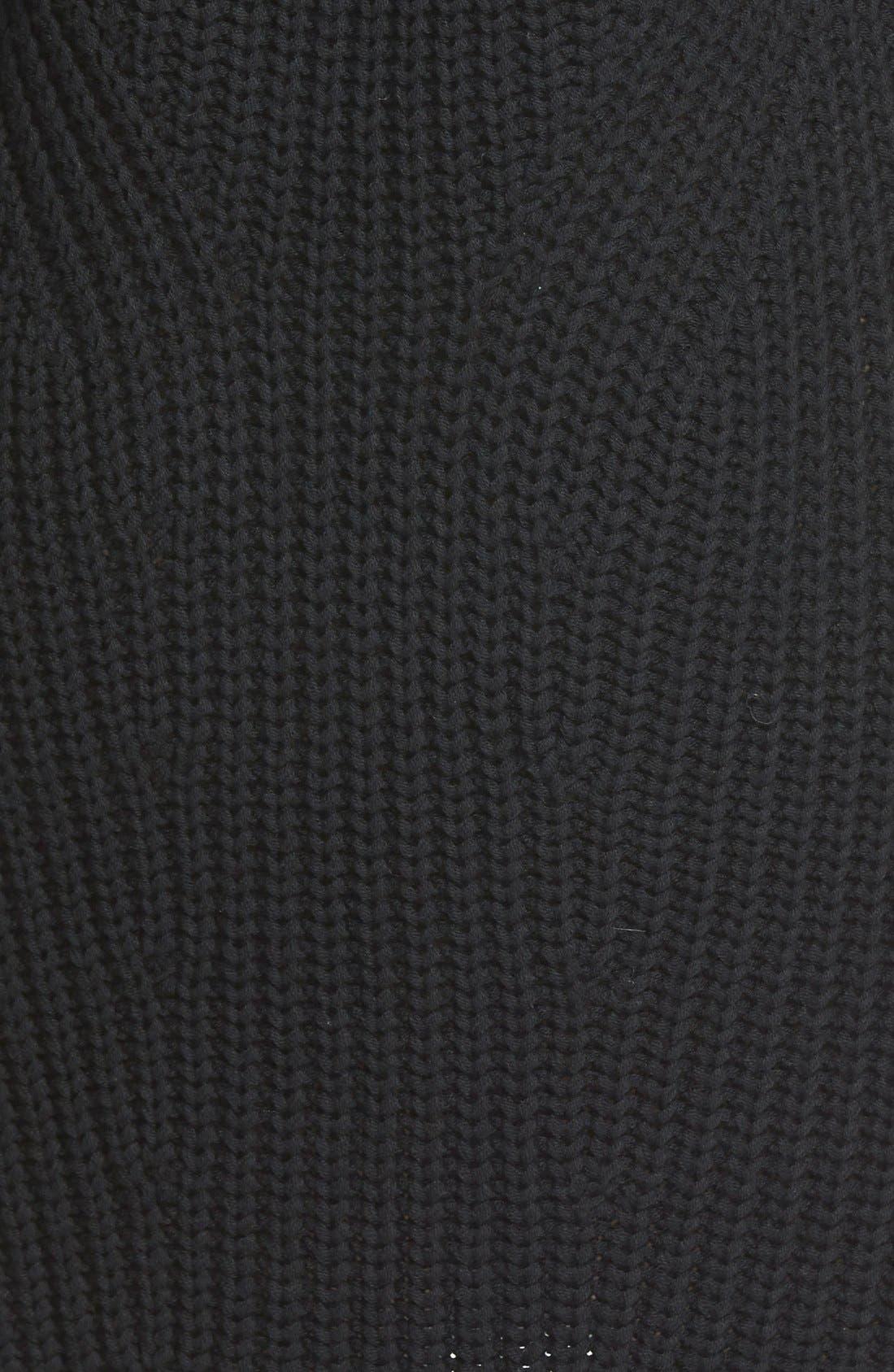 TREASURE & BOND, Treasure&Bond Turtleneck Sweater Dress, Alternate thumbnail 2, color, 001