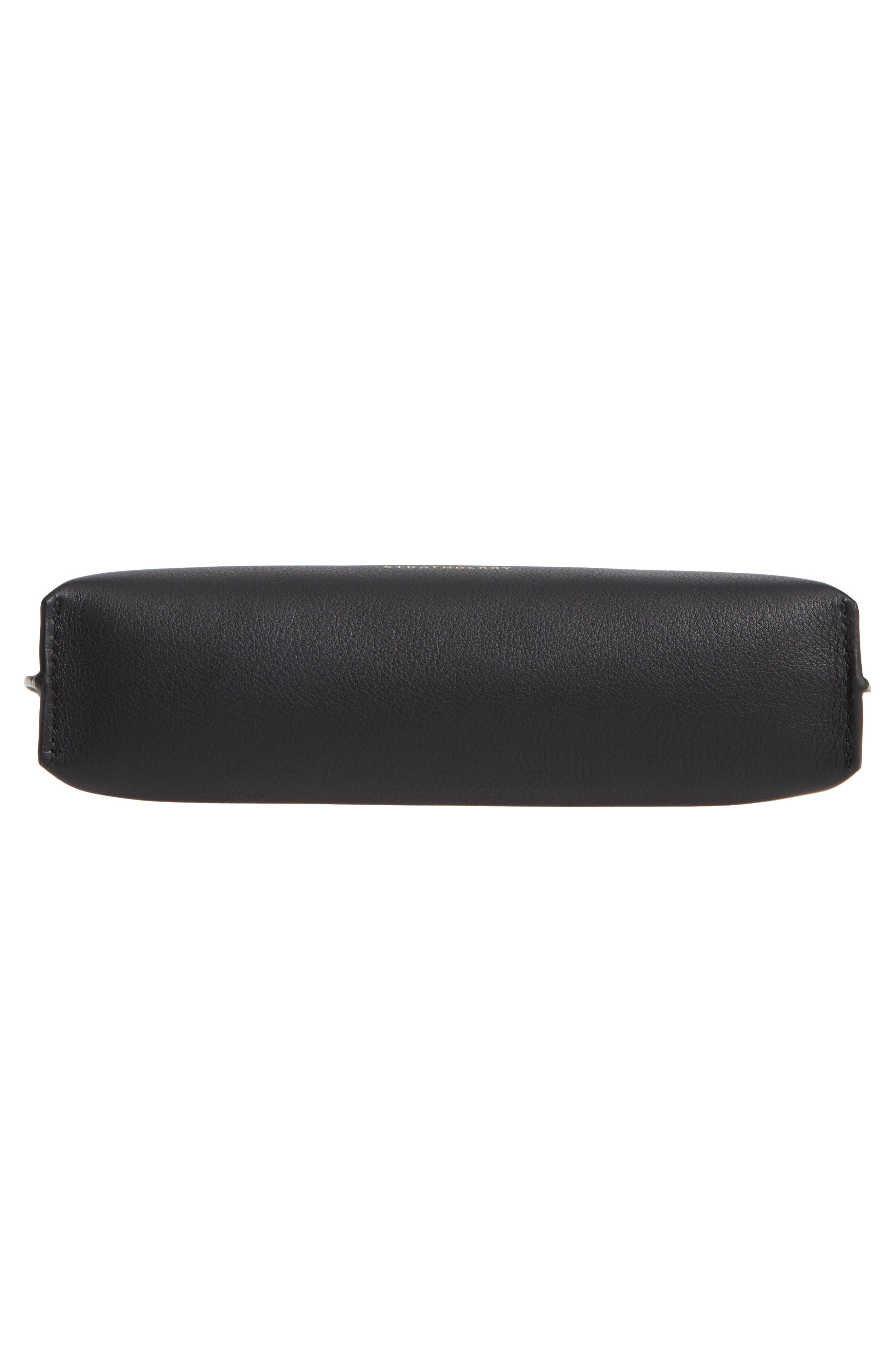 STRATHBERRY, East/West Stylist Calfskin Leather Clutch, Alternate thumbnail 6, color, BLACK