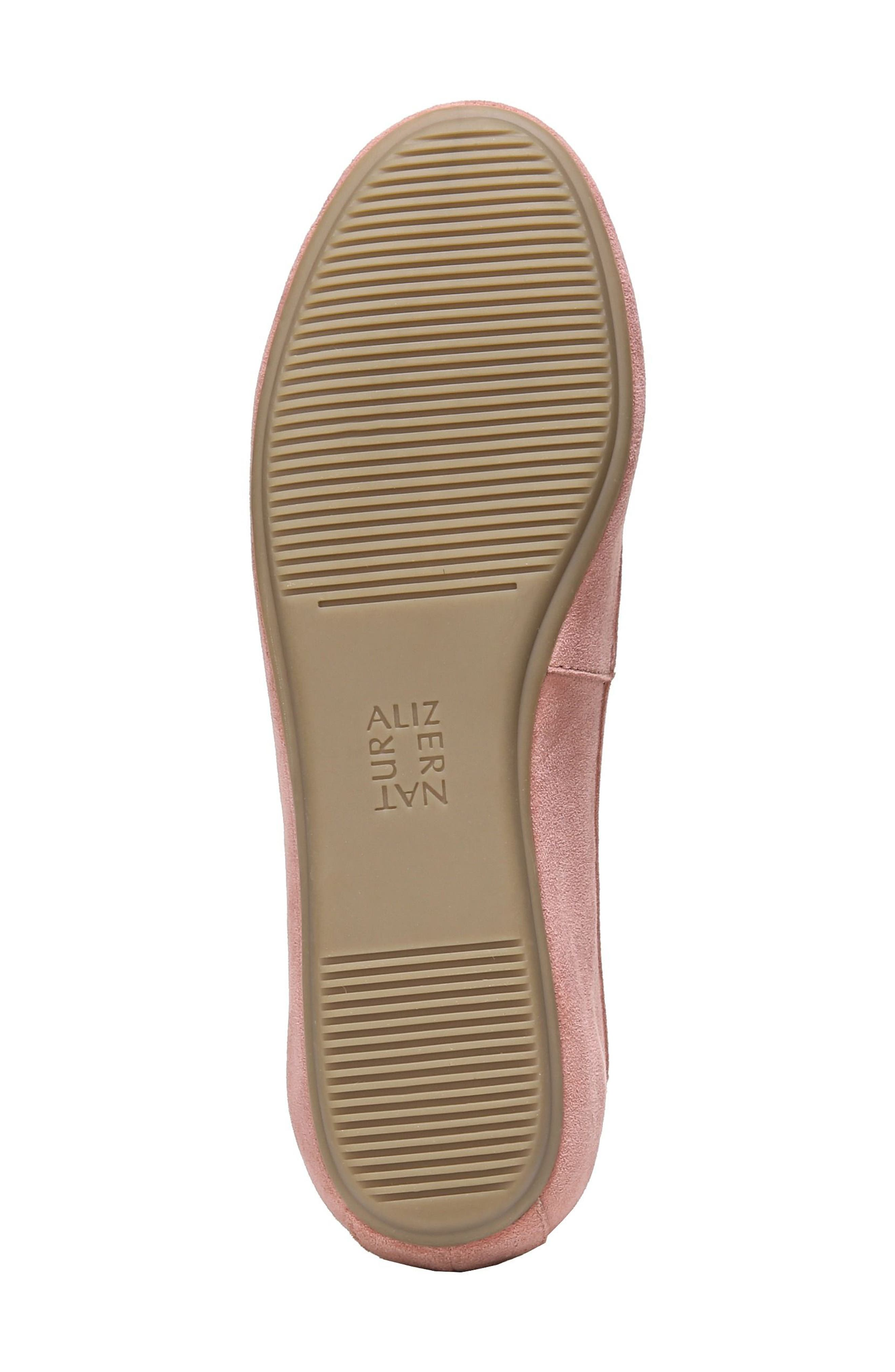 NATURALIZER, Brittany Ballet Flat, Alternate thumbnail 6, color, PEONY PINK SUEDE