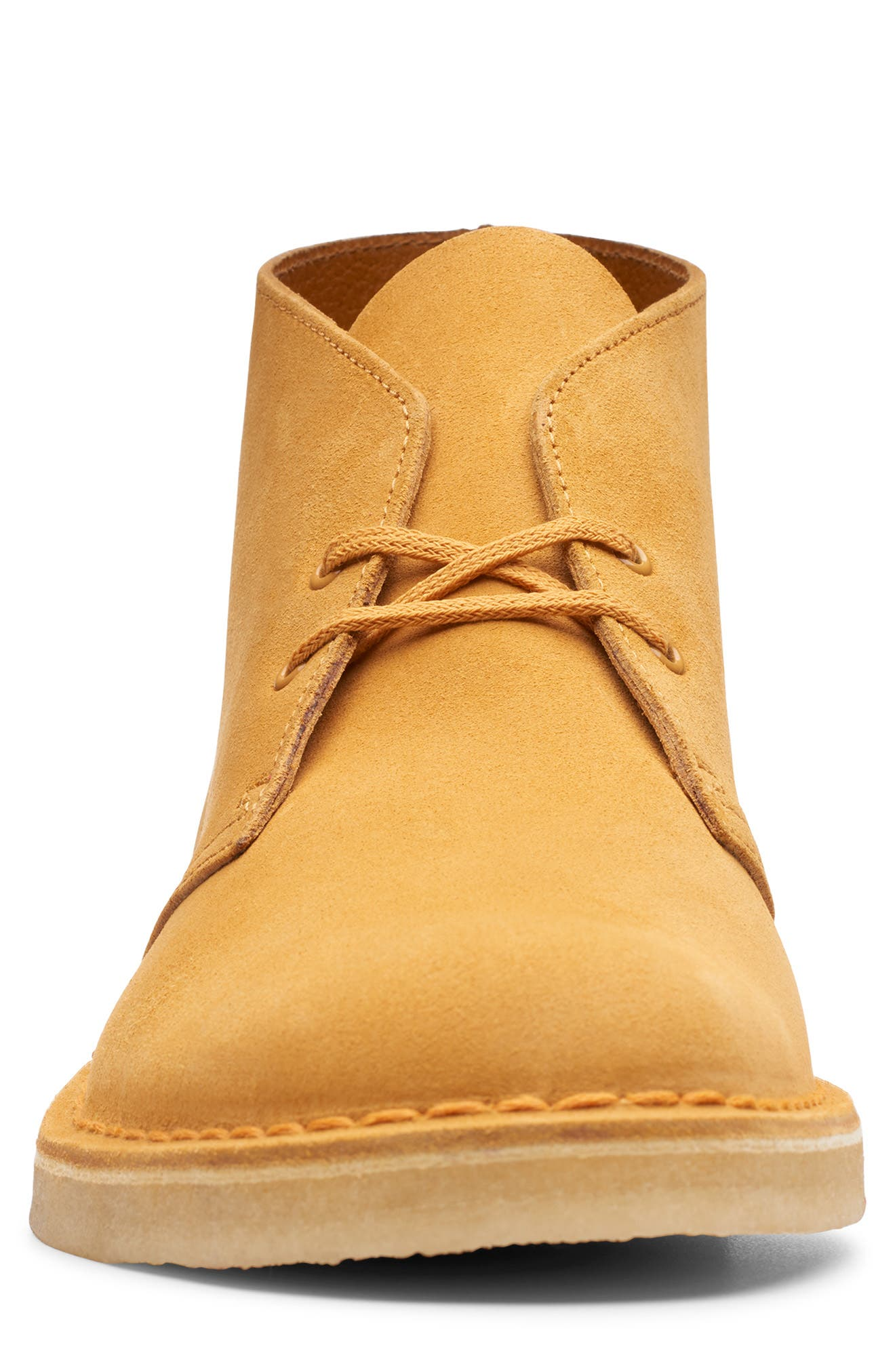 CLARKS<SUP>®</SUP>, Originals 'Desert' Boot, Alternate thumbnail 3, color, TURMERIC/BROWN SUEDE