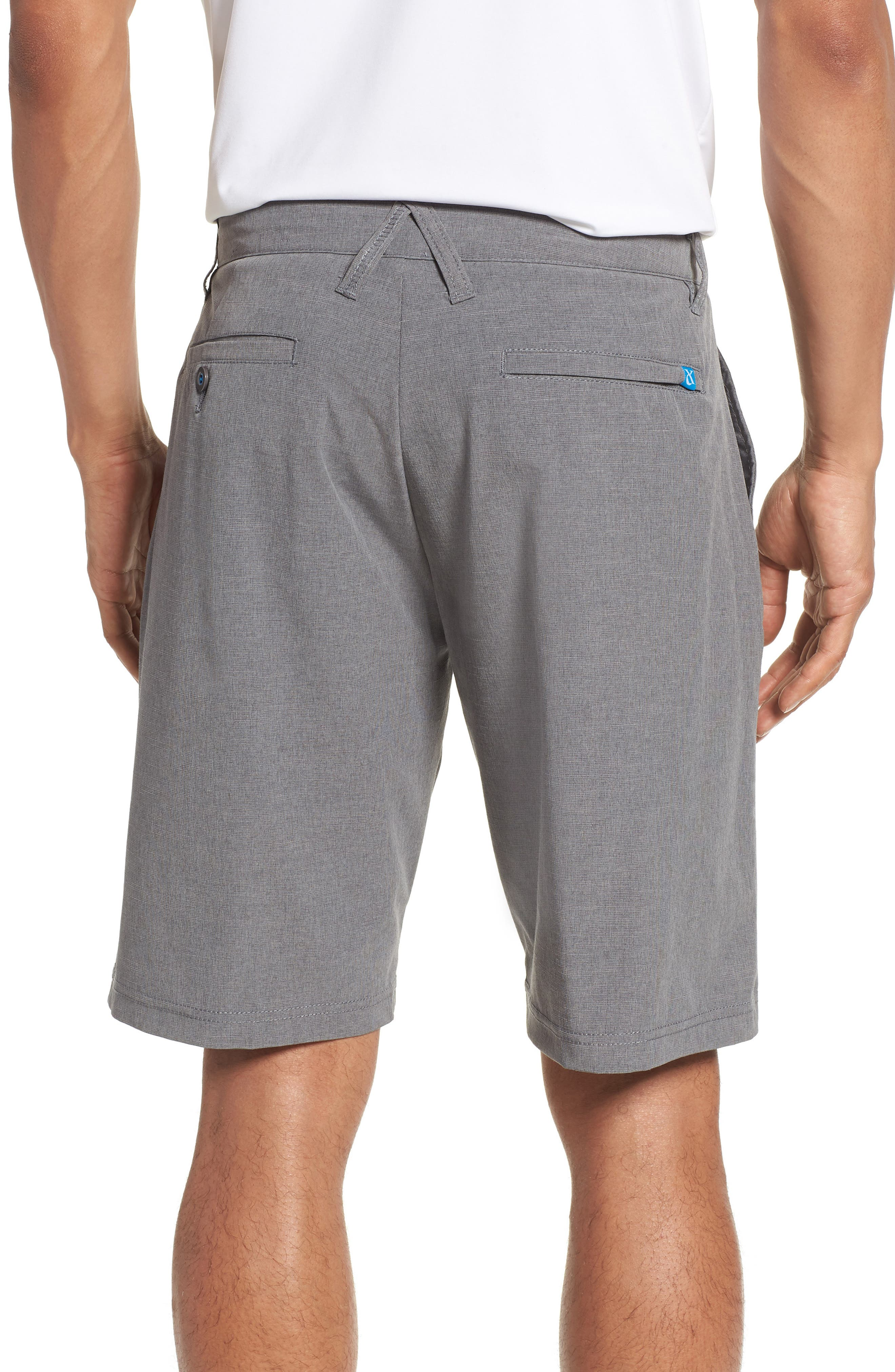 DEVEREUX, Cruiser Hybrid Shorts, Alternate thumbnail 2, color, CHARCOAL