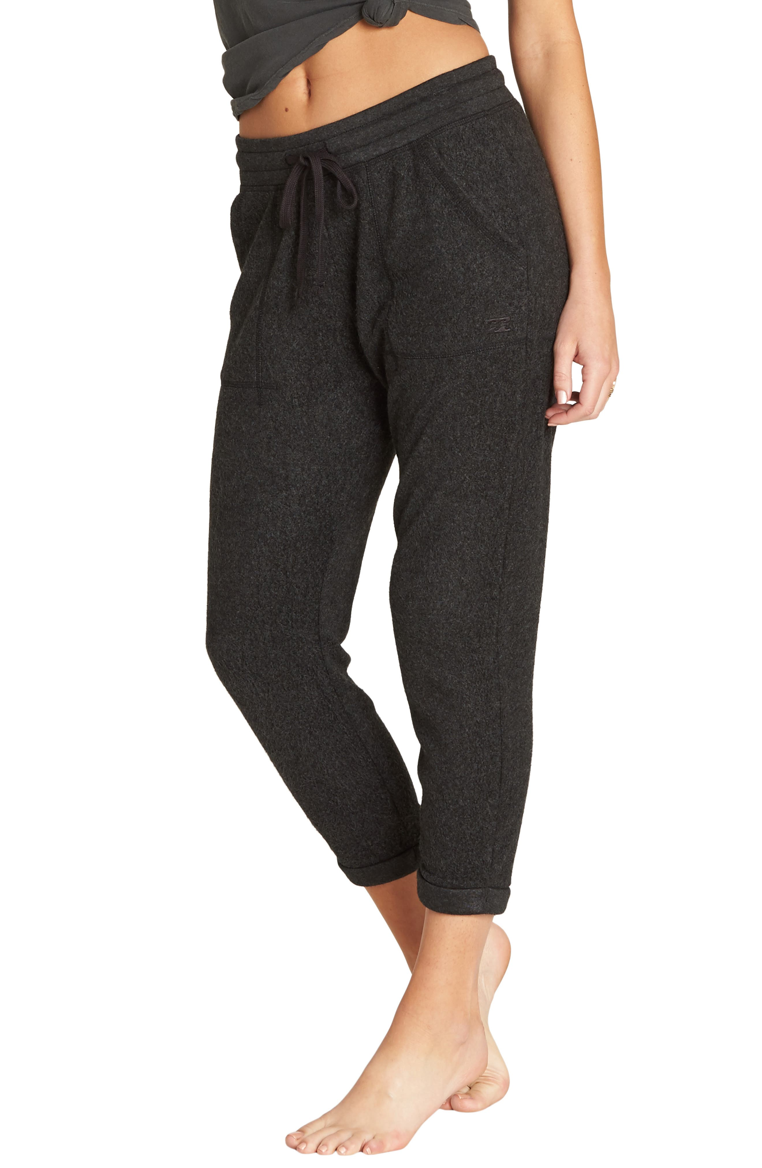 BILLABONG, So Cozy Crop Fleece Pants, Alternate thumbnail 3, color, 020