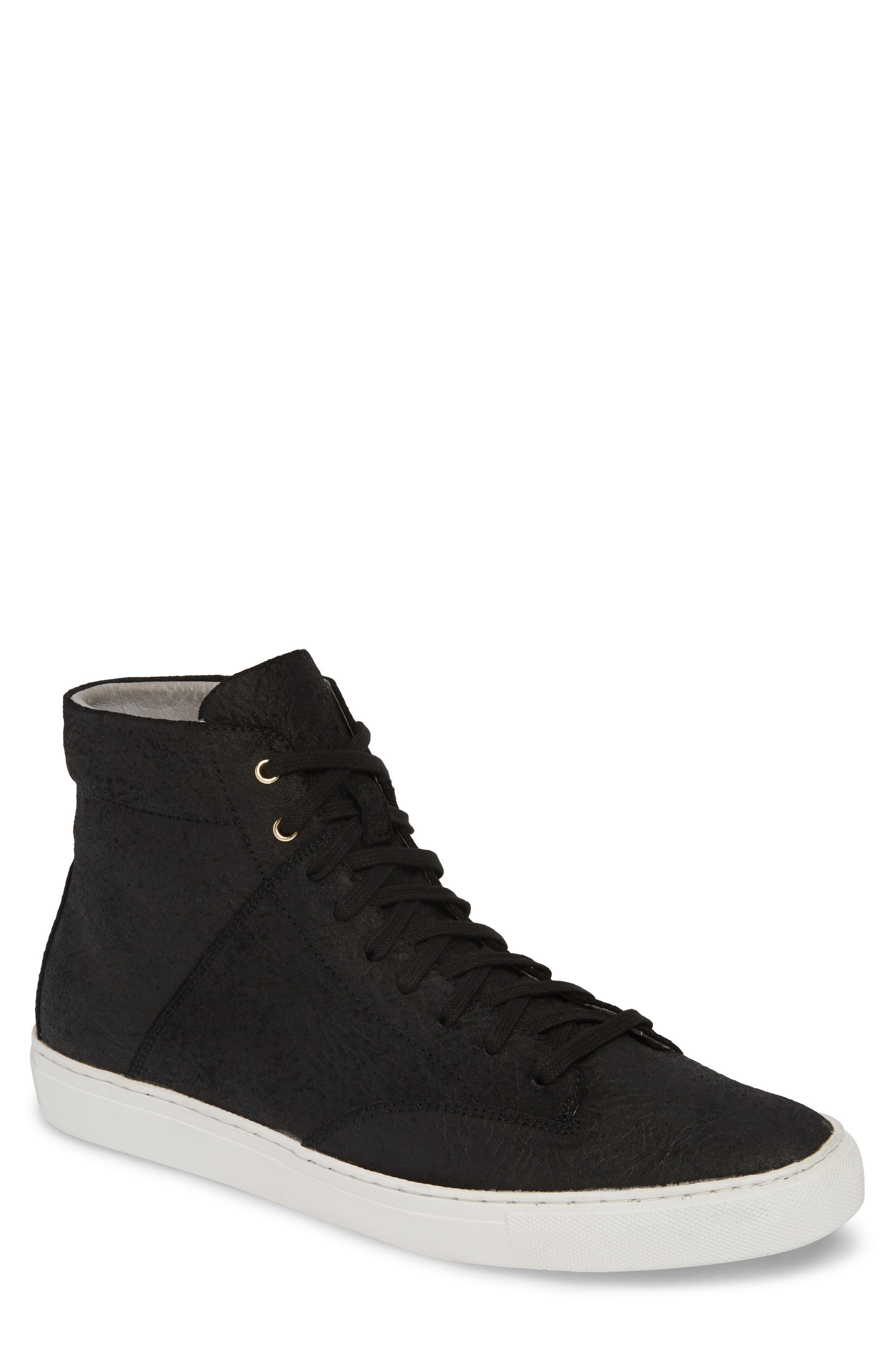 TCG, 'Porter' High Top Sneaker, Main thumbnail 1, color, BLACK LEATHER