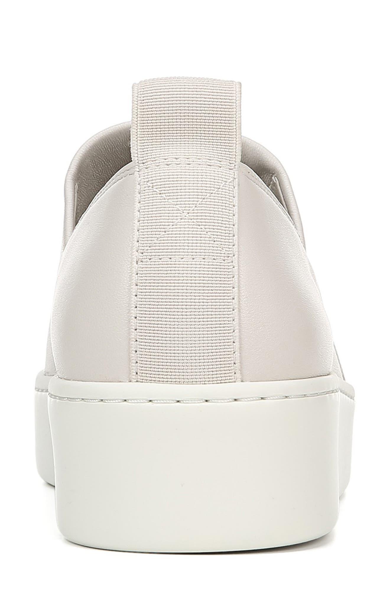 VINCE, Saxon Slip-On Sneaker, Alternate thumbnail 7, color, BONE THIN STRETCH NAPPA