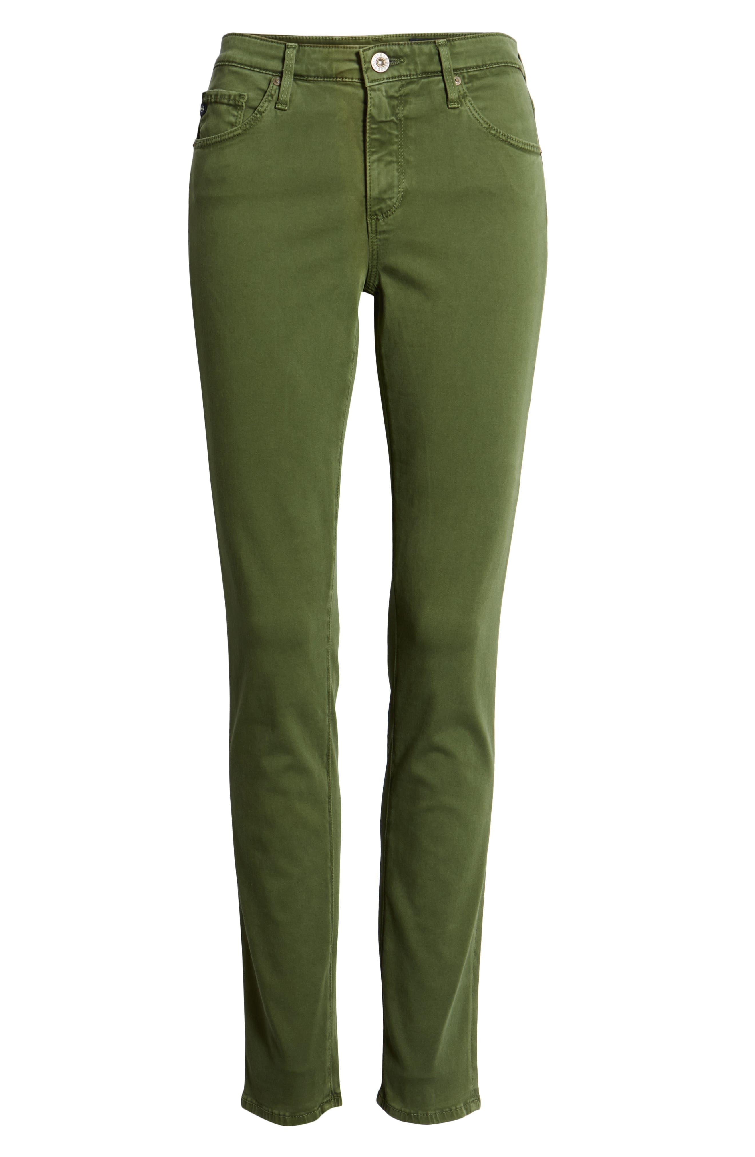 AG, 'The Prima' Cigarette Leg Skinny Jeans, Alternate thumbnail 7, color, SULFUR NEW SPRUCE