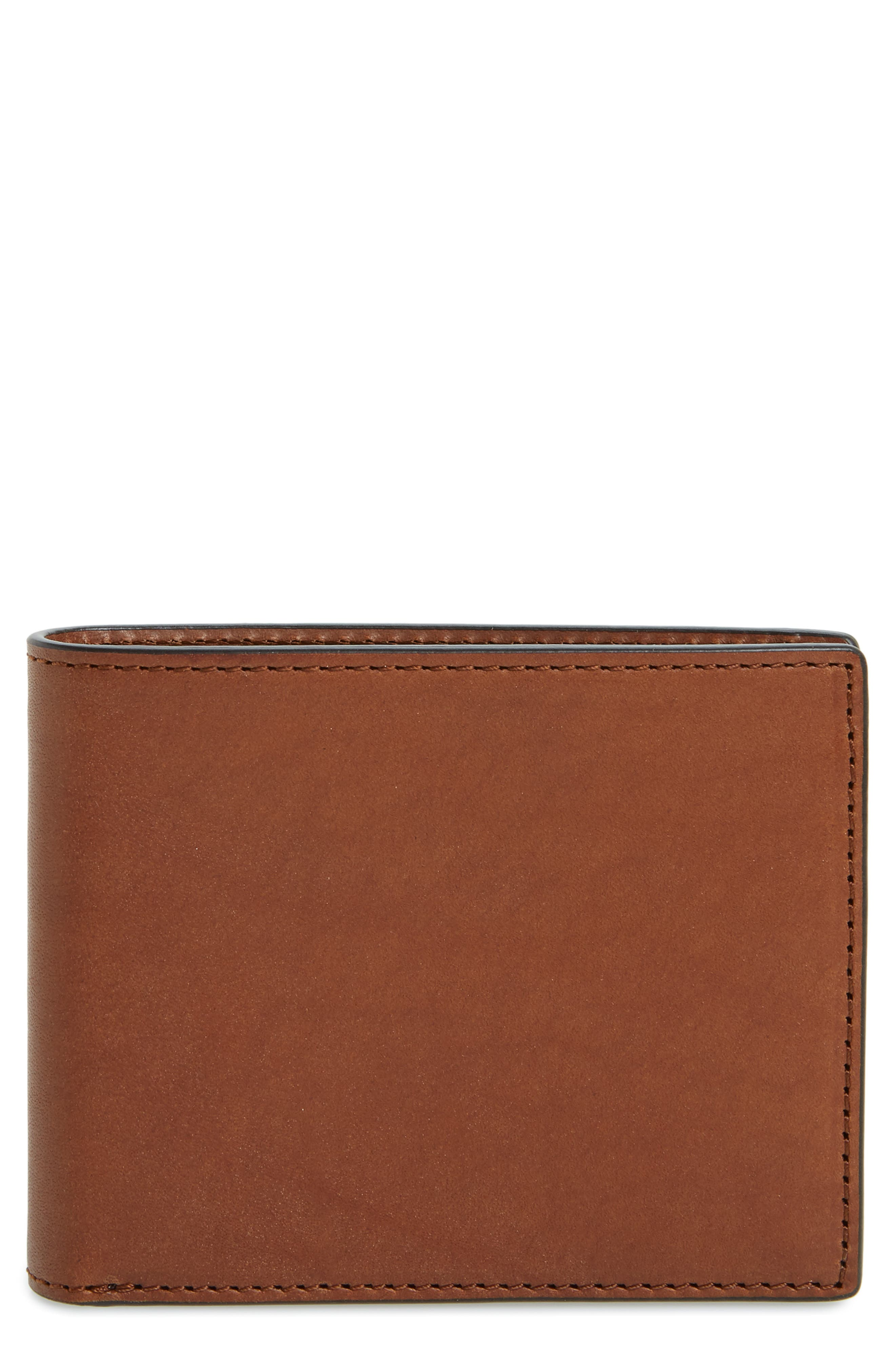 RAG & BONE, Hampshire Leather Bifold Wallet, Main thumbnail 1, color, BROWN COMBO