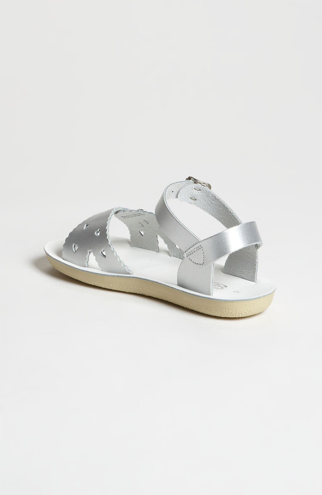 SALT WATER SANDALS BY HOY, Sweetheart Sandal, Alternate thumbnail 2, color, SILVER