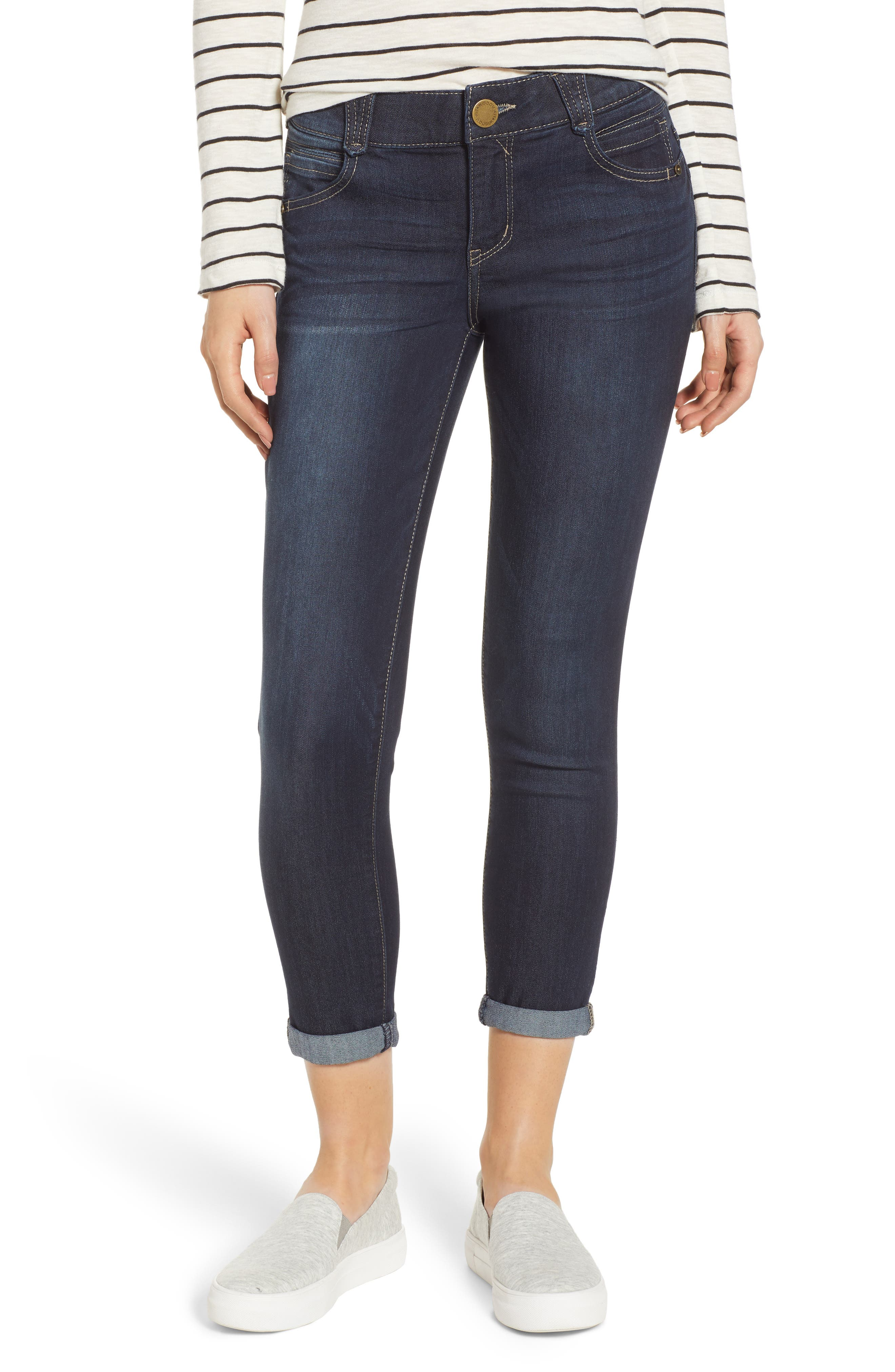 WIT & WISDOM, Ab-Solution Ankle Skimmer Jeans, Main thumbnail 1, color, INDIGO