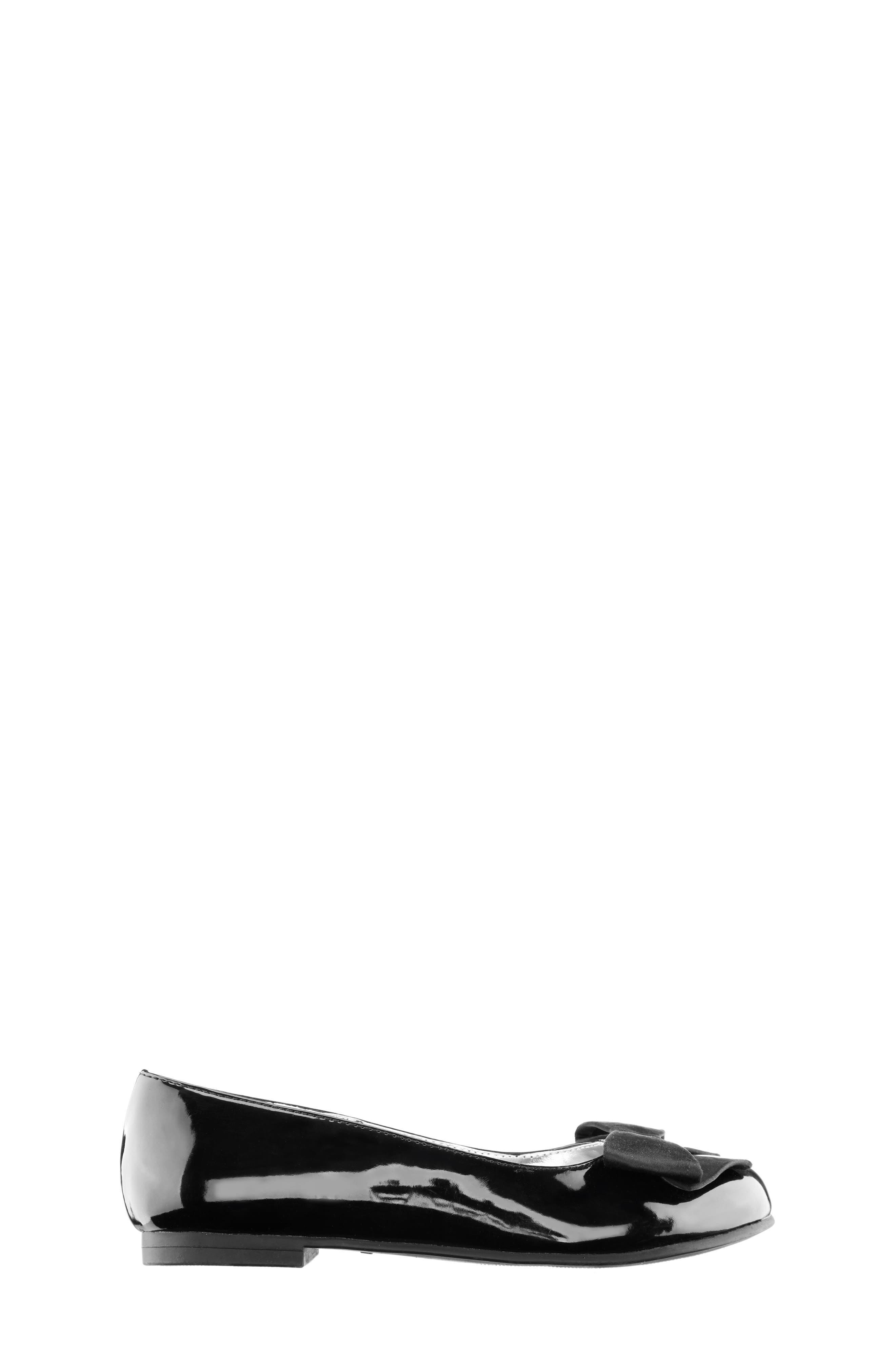 NINA, 'Pegasus' Flat, Alternate thumbnail 4, color, BLACK PATENT